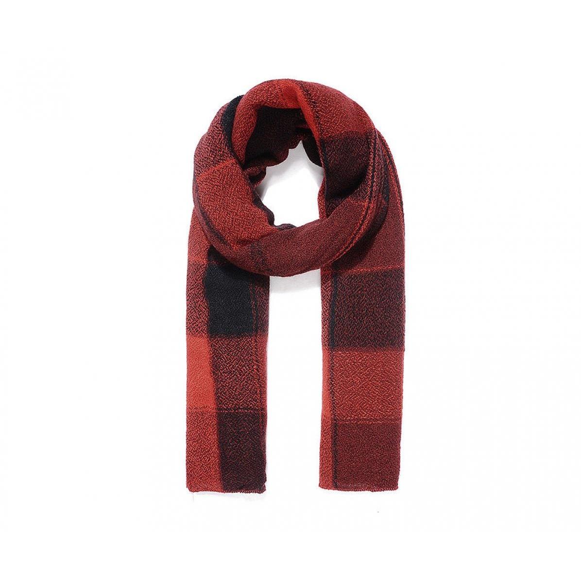 Intrigue Womens//Ladies Check Dyed Narrow Scarf JW892