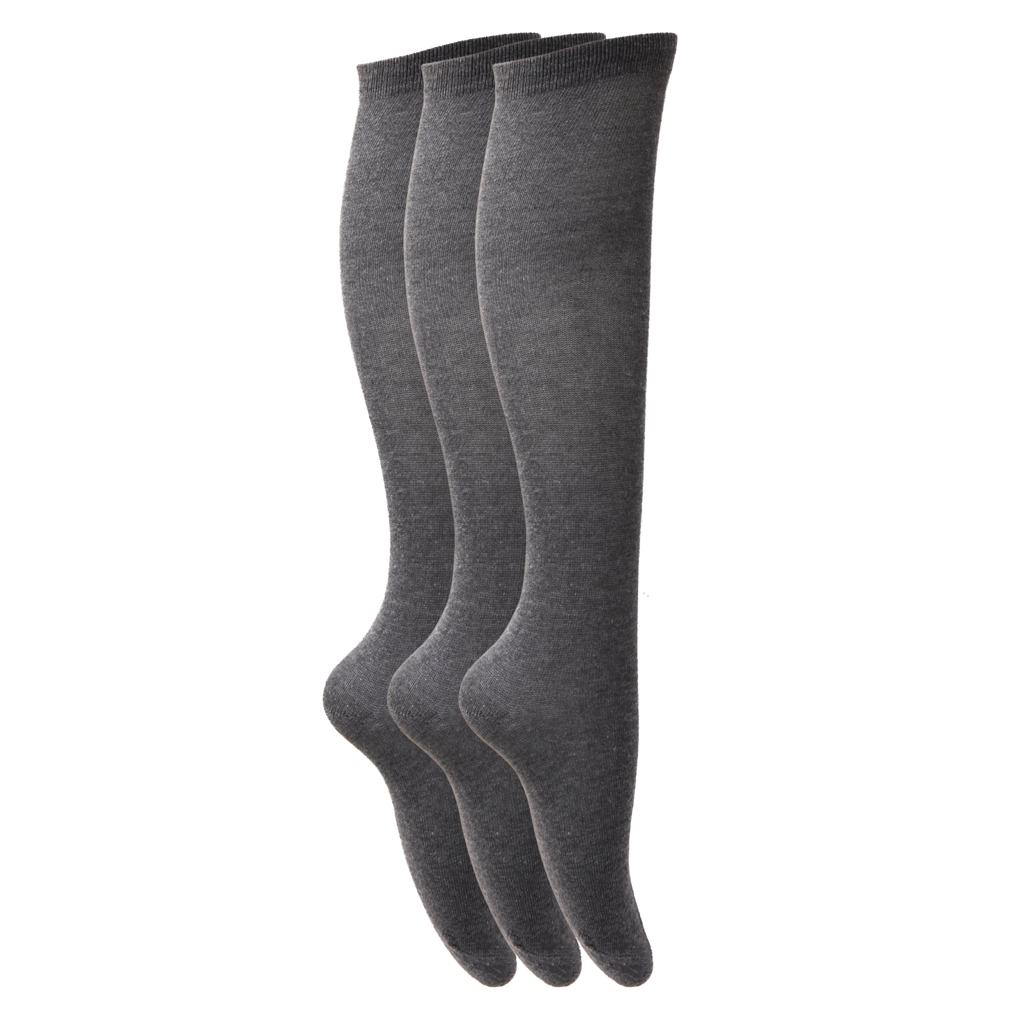 Calcetines Chicas Liso Knee High School (3 Pack)
