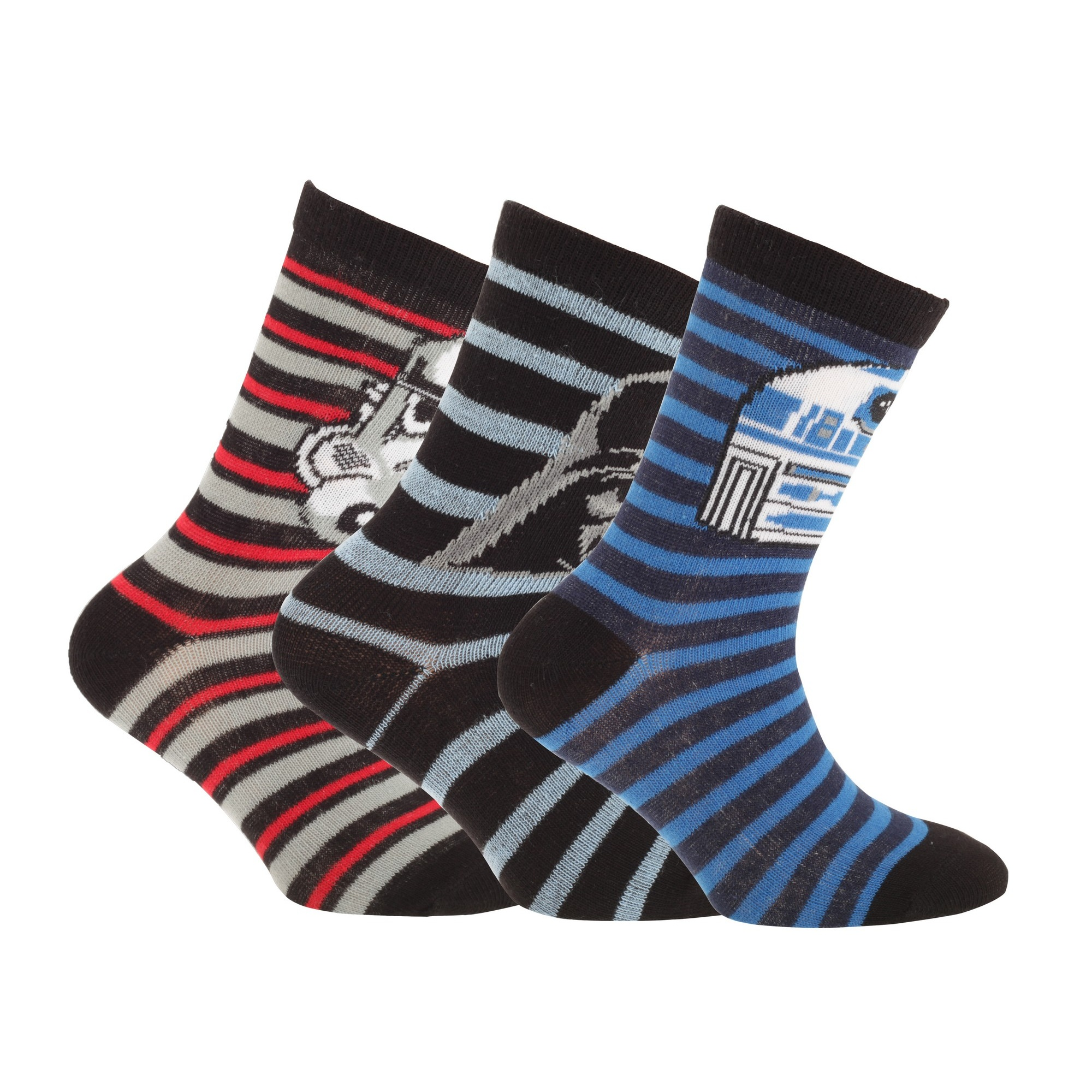 Disney Star Wars 3 Pack Kids Socks
