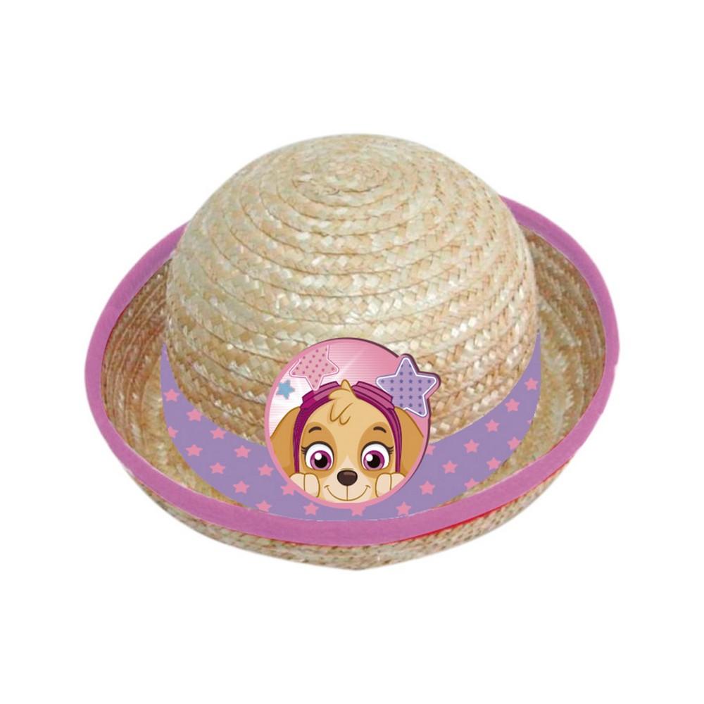 KC648 Paw Patrol Childrens//Girls Straw Summer Hat