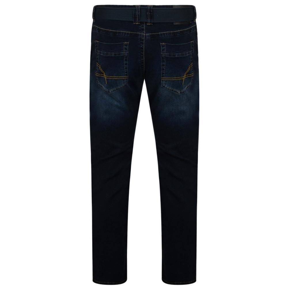 Kam-Jeanswear-Mens-Garcia-Belted-Stretch-Jeans-KJ139 thumbnail 4