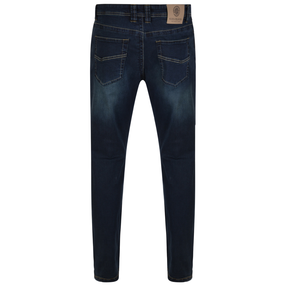 Kam-Jeanswear-Mens-Vincent-Tall-Fit-Stretch-Jeans-KJ148 thumbnail 4