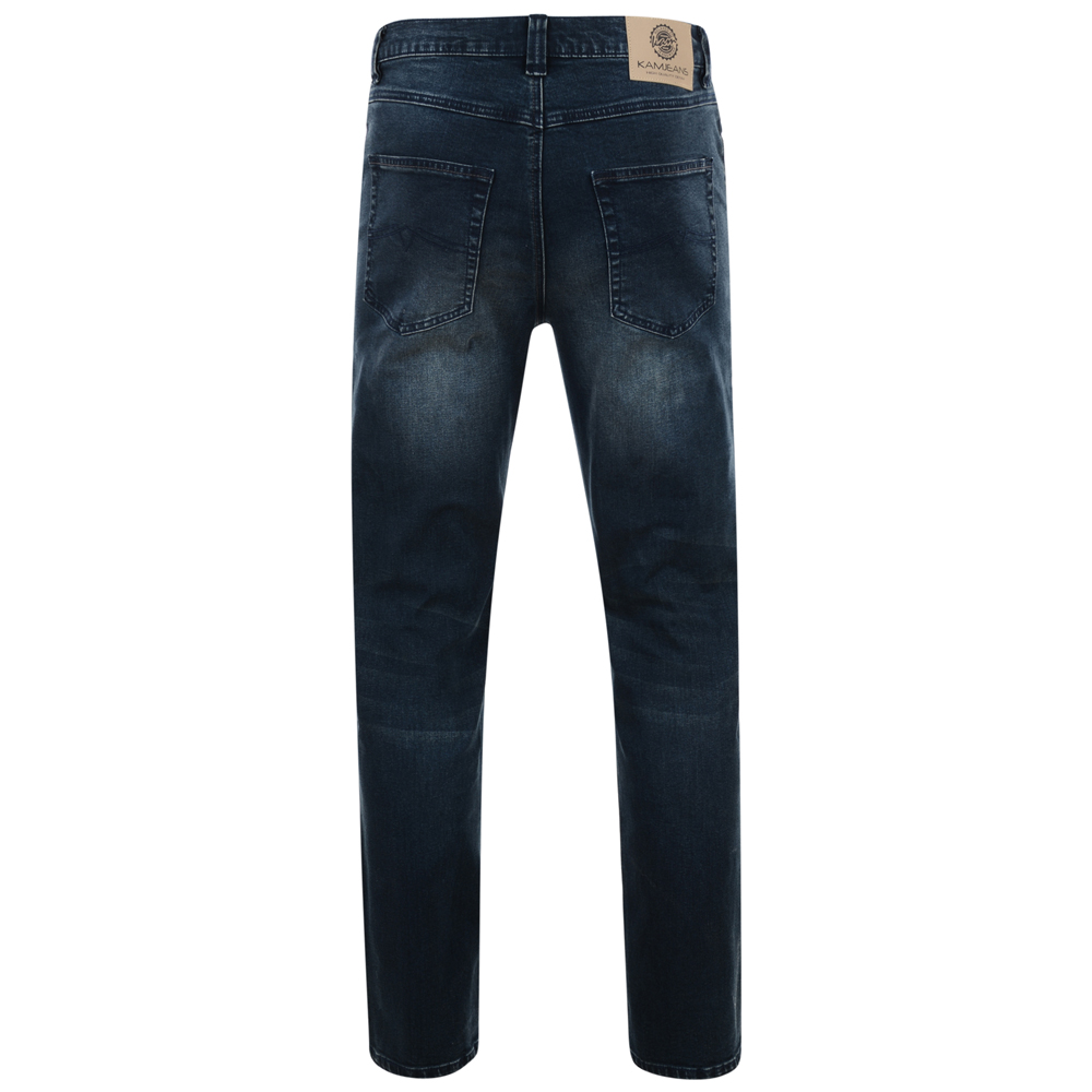 Kam-Jeanswear-Mens-Aron-Low-Waist-Stretch-Jeans-KJ163 thumbnail 4
