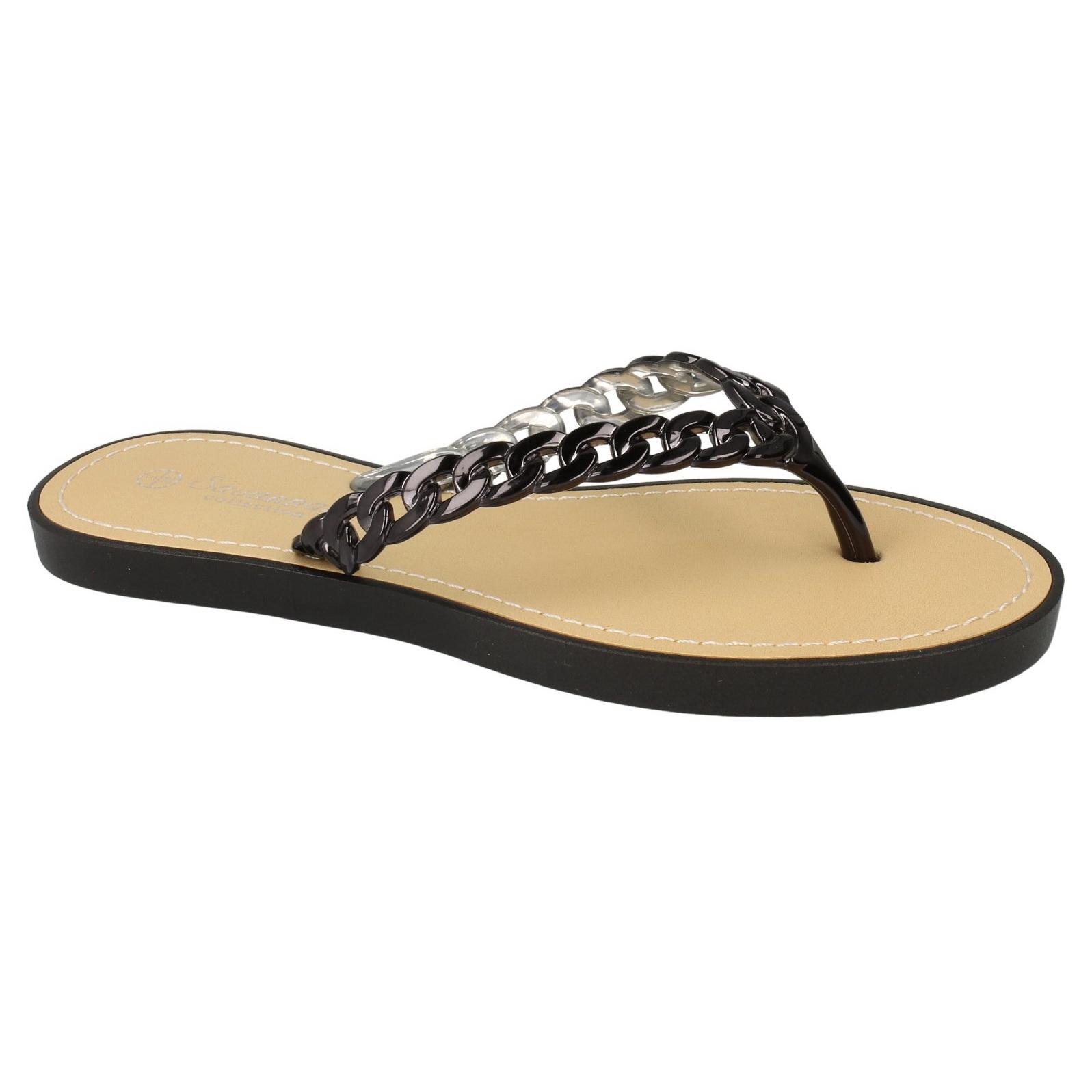 Savannah Damen Flip Flops mit Metall Akzent (40 EU) (Koralle) xbGitkMY6P