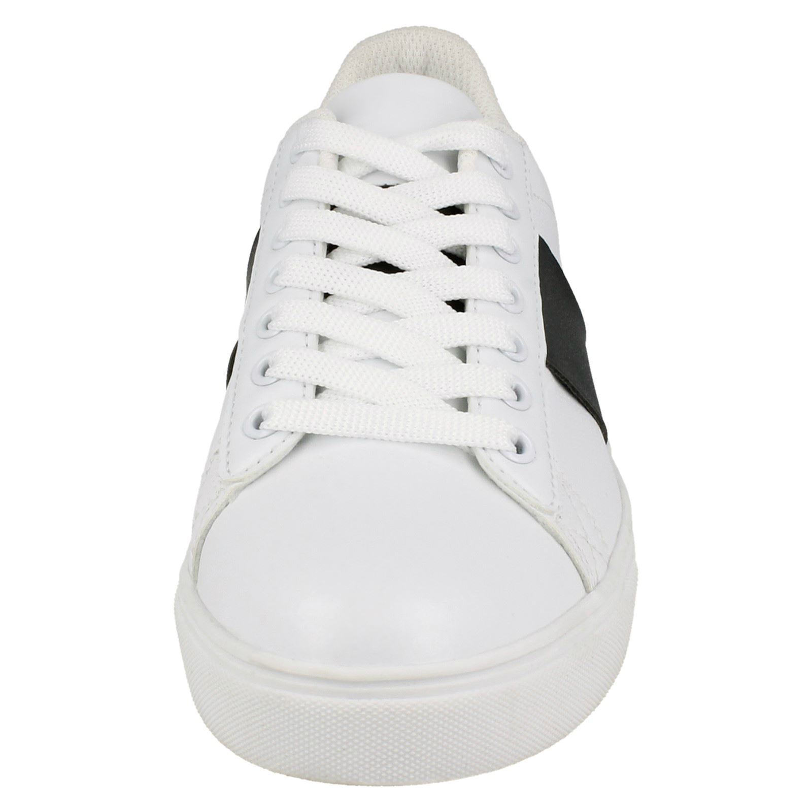 Spot On Womens/Ladies Lace Up Cemented Strip Trainers (KM550)