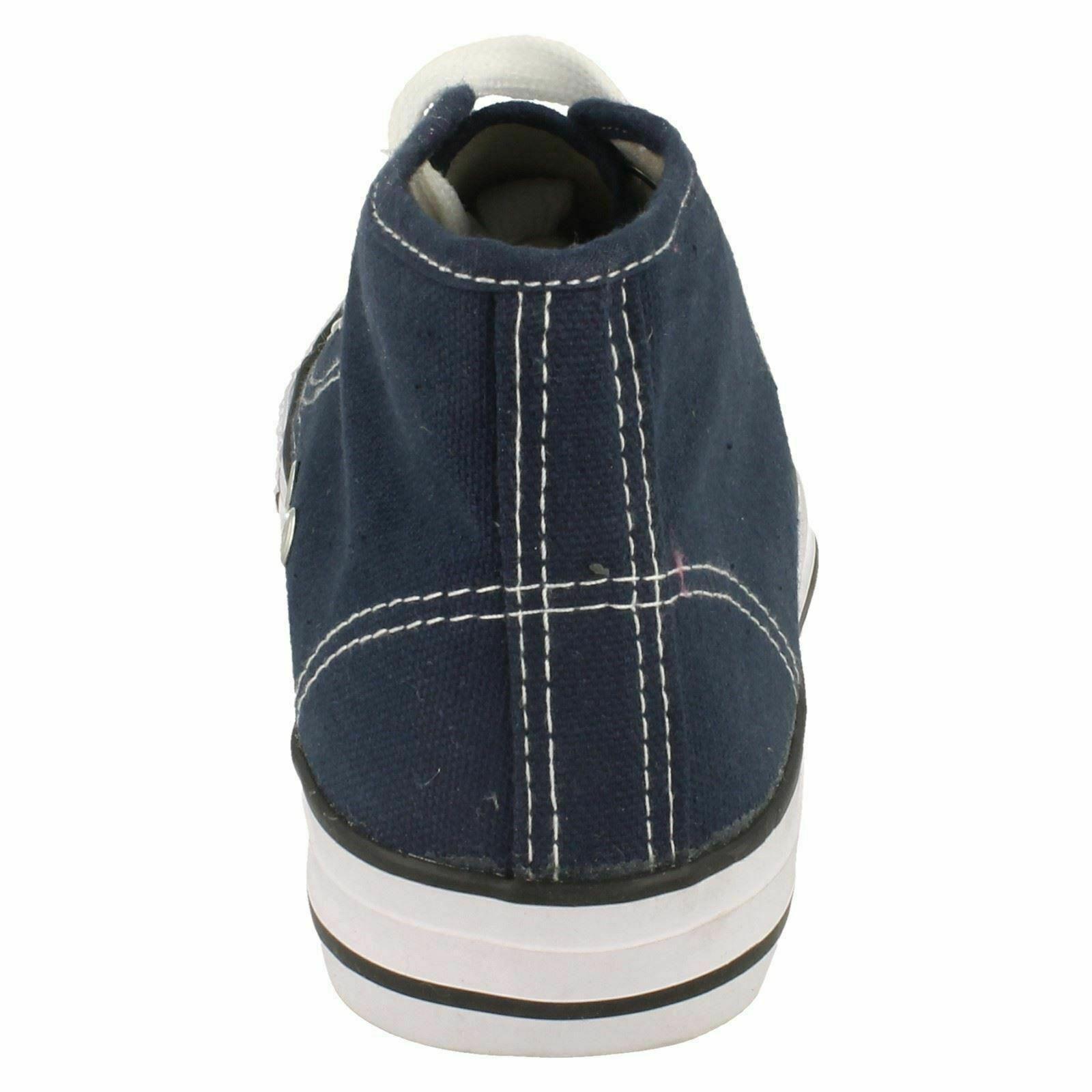 Spot-On-Chaussures-hautes-en-toile-Homme-KM565 miniature 7