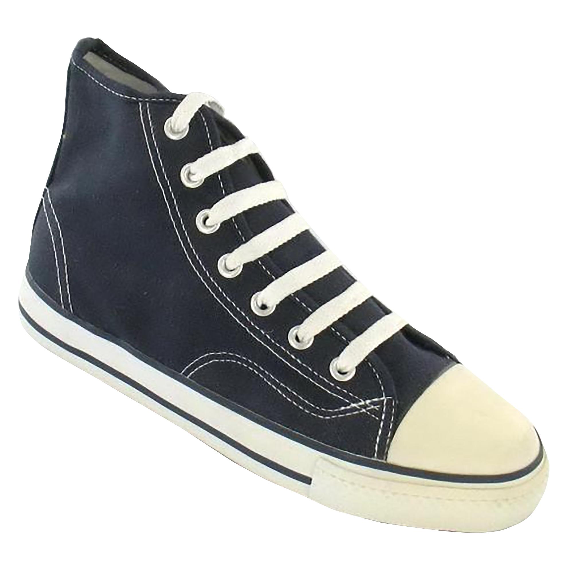 Spot-On-Chaussures-hautes-en-toile-Homme-KM565 miniature 9