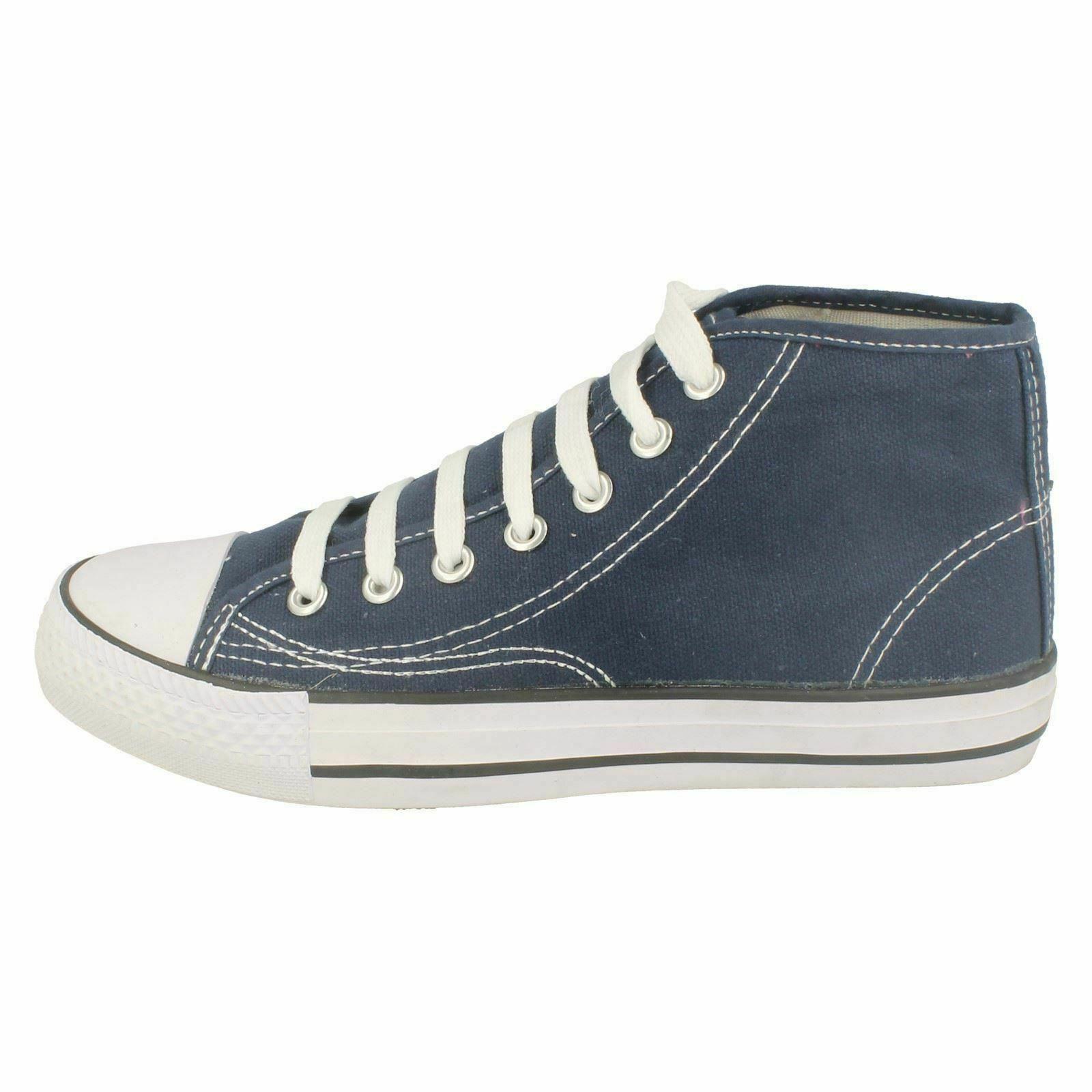 Spot-On-Chaussures-hautes-en-toile-Homme-KM565 miniature 10