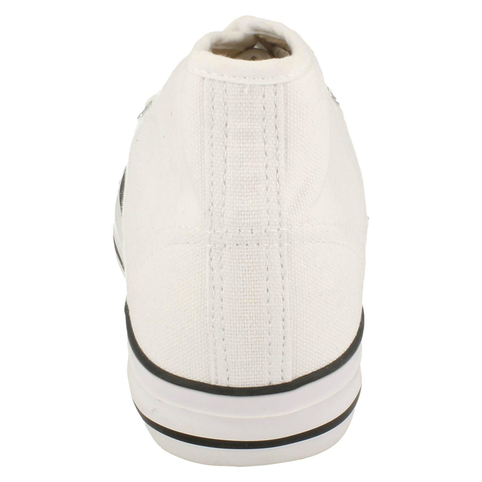 Spot-On-Chaussures-hautes-en-toile-Homme-KM565 miniature 3