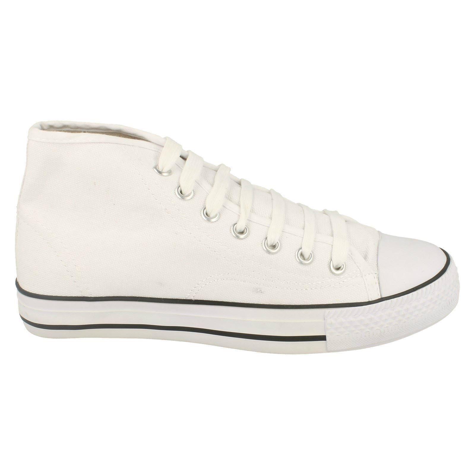 Spot-On-Chaussures-hautes-en-toile-Homme-KM565 miniature 4