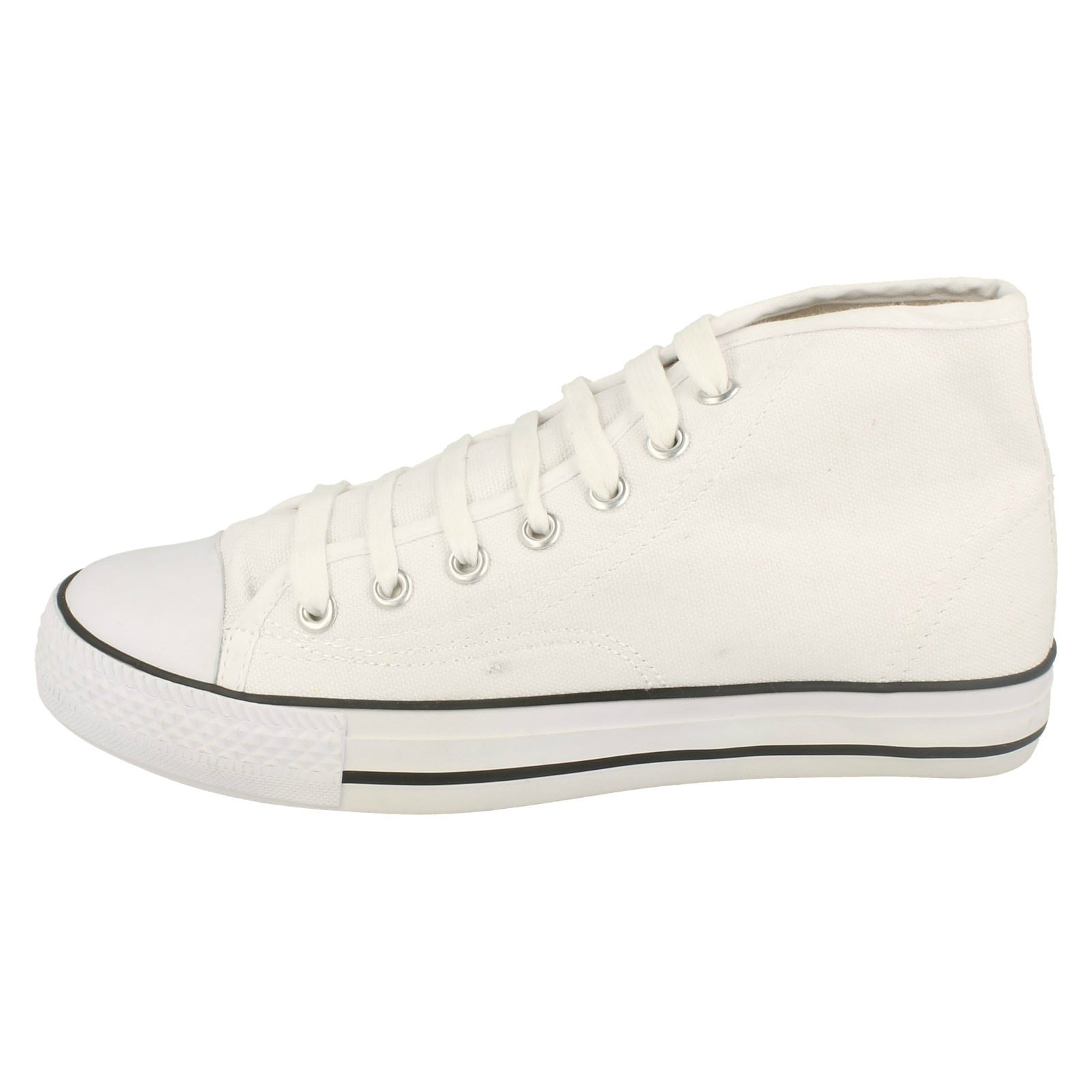 Spot-On-Chaussures-hautes-en-toile-Homme-KM565 miniature 5