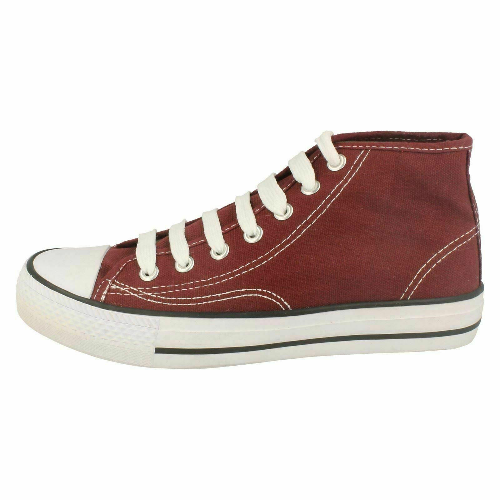 Spot-On-Chaussures-hautes-en-toile-Homme-KM565 miniature 14