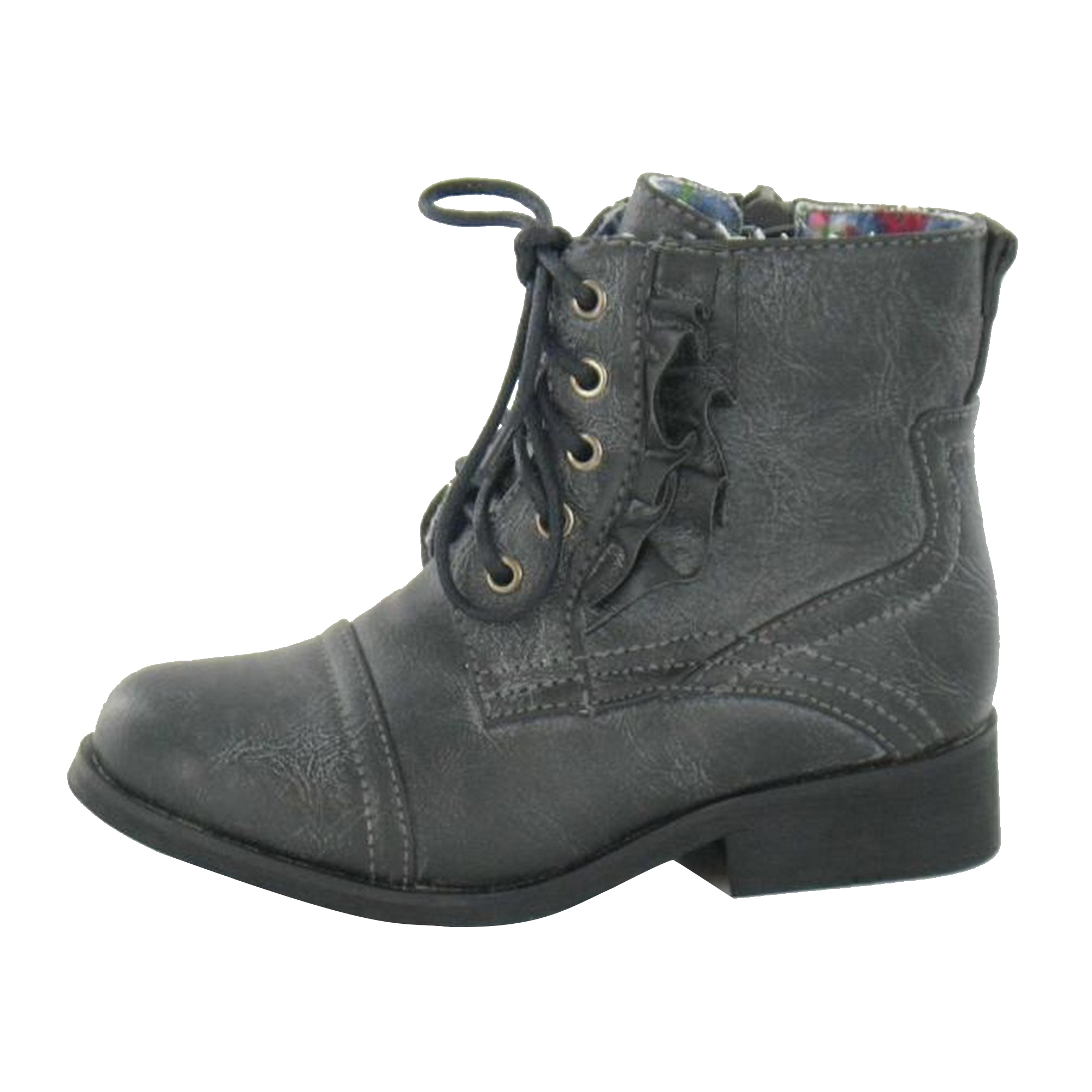 Cutie-Childrens-Girls-Flat-Lace-Up-Boots-KM587