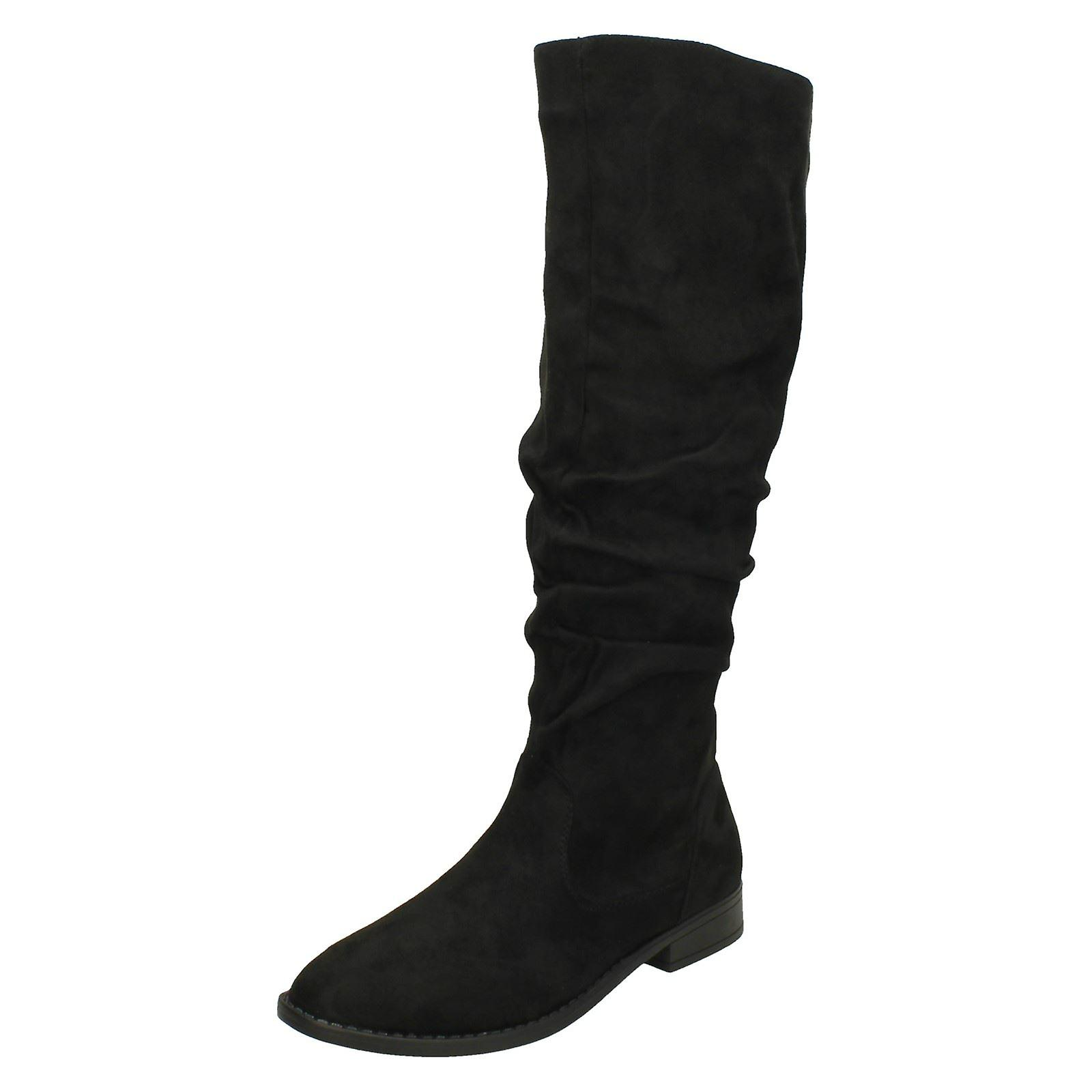 Spot On Womens//Ladies Knee High Boots KM601