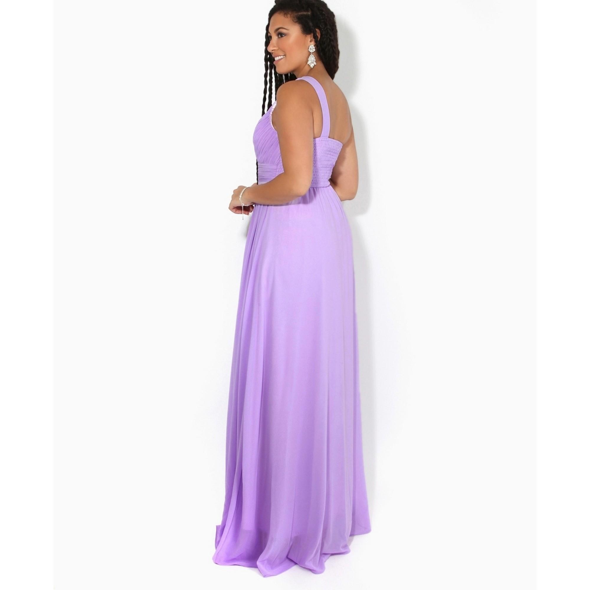 Krisp Womens/Ladies One Shoulder Evening Maxi Dress (12 UK) (Aubergine Purple)
