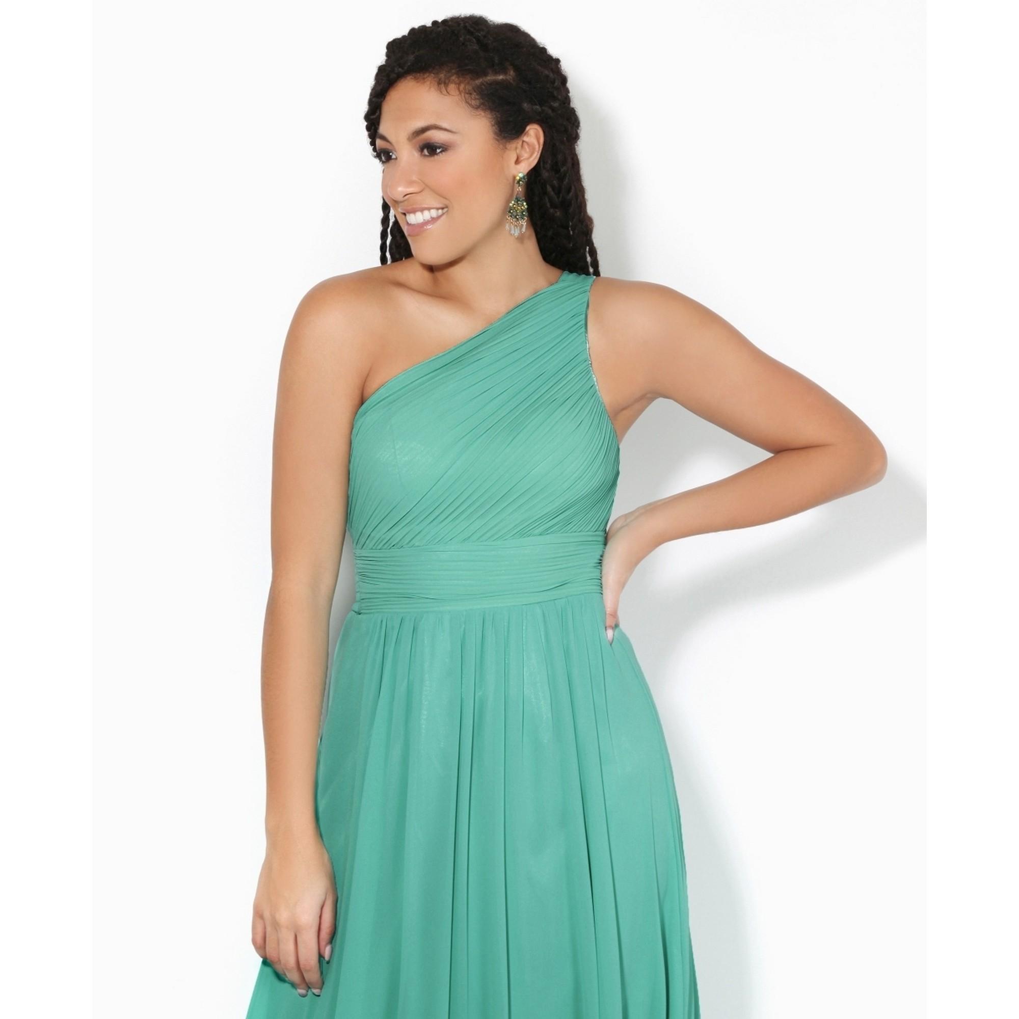 Krisp Womens/Ladies One Shoulder Evening Maxi Dress (18 UK) (Aqua Blue)