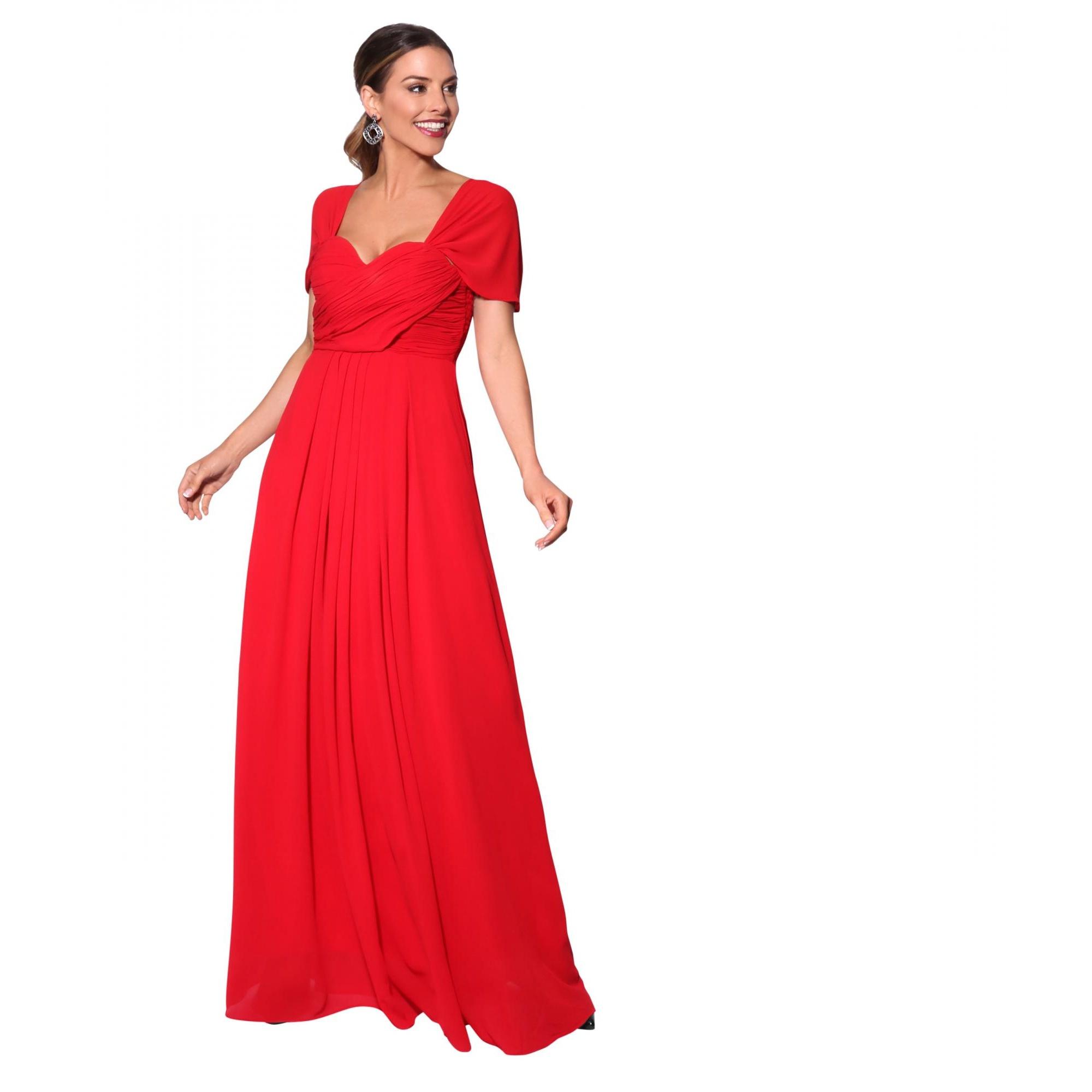 Krisp Womens/Ladies Multiway Neckline Occasion Maxi Dress (10 UK) (Red)