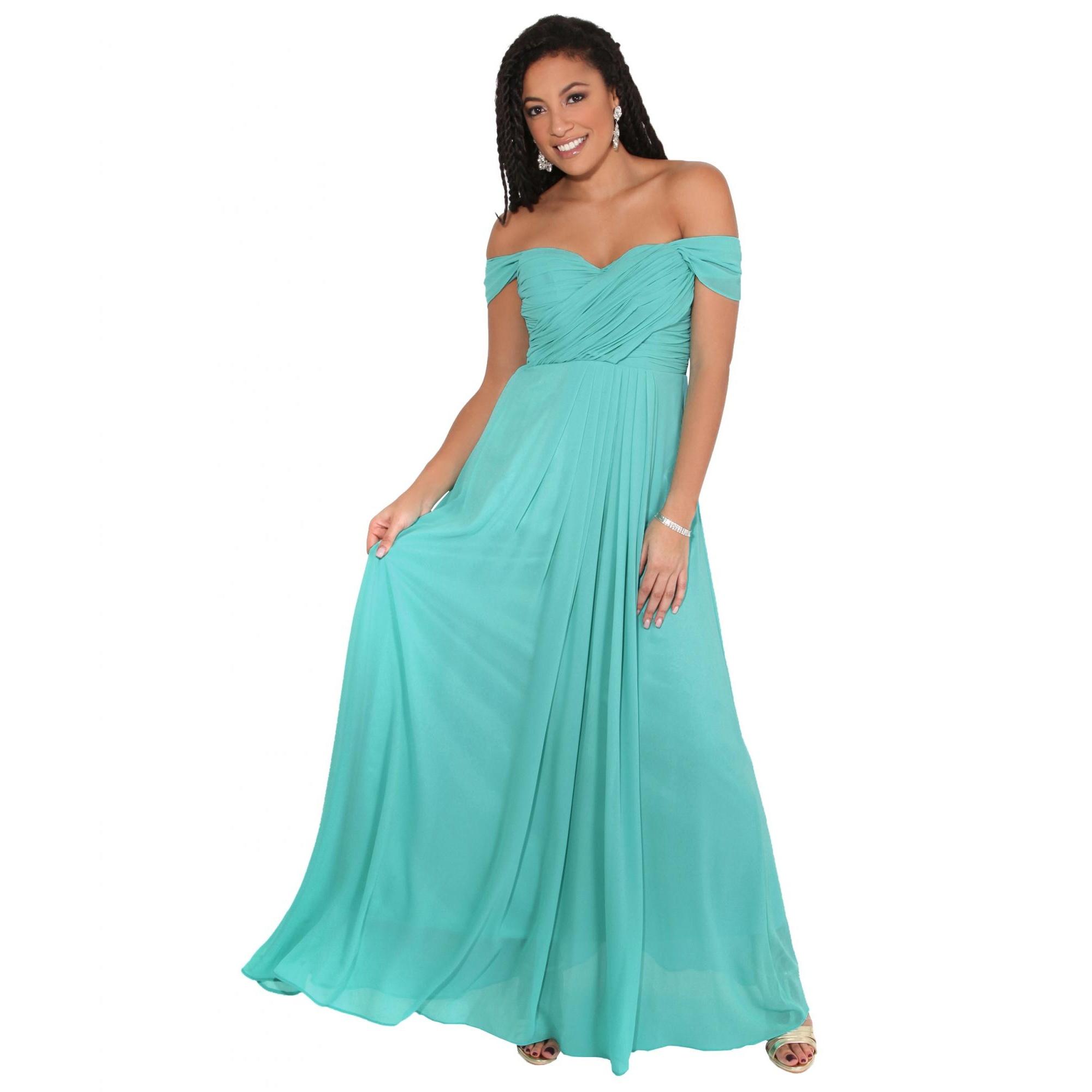Krisp Womens/Ladies Multiway Neckline Occasion Maxi Dress (18 UK) (Turquoise)