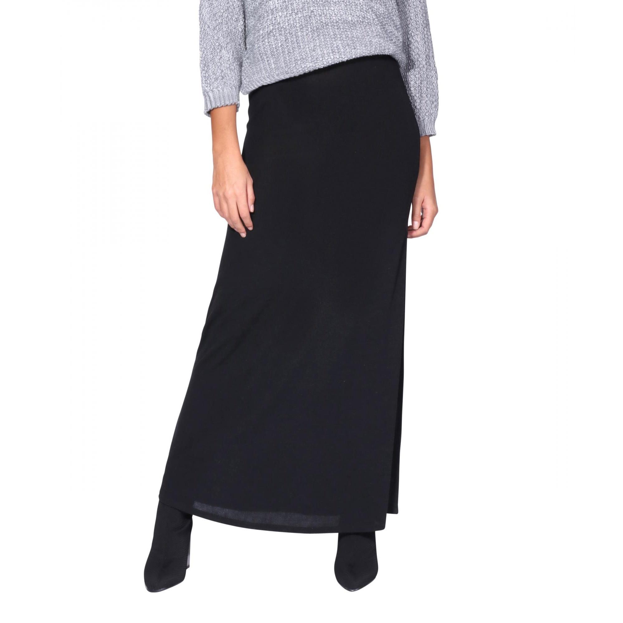 Krisp Womens/Ladies High Waist Maxi Skirt (8 UK) (Black)