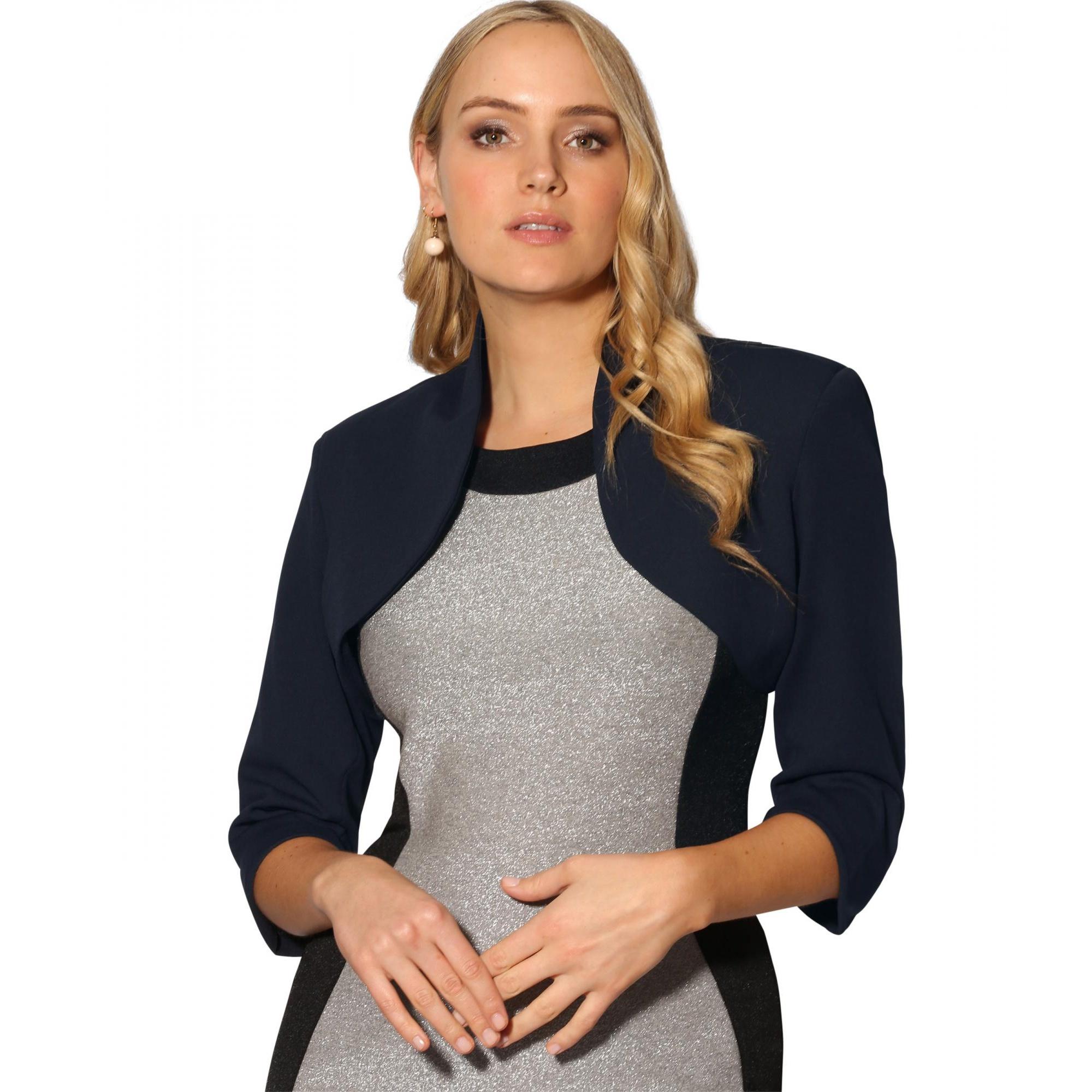 Krisp Womens/Ladies Tailored Cropped Evening Shrug (14 UK) (Navy)