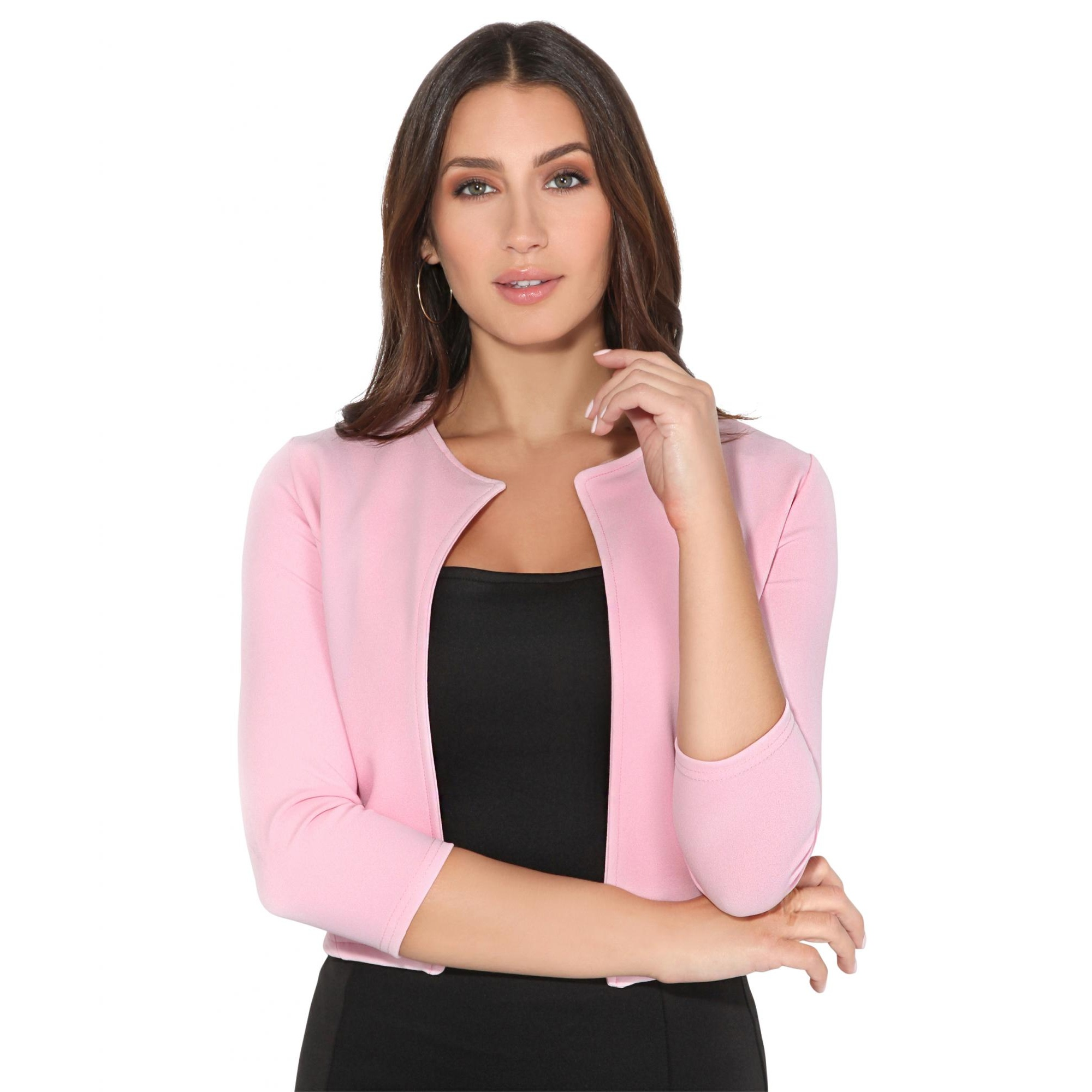 Krisp Womens/Ladies Cropped Open Party Shrug (20 UK) (Pink)
