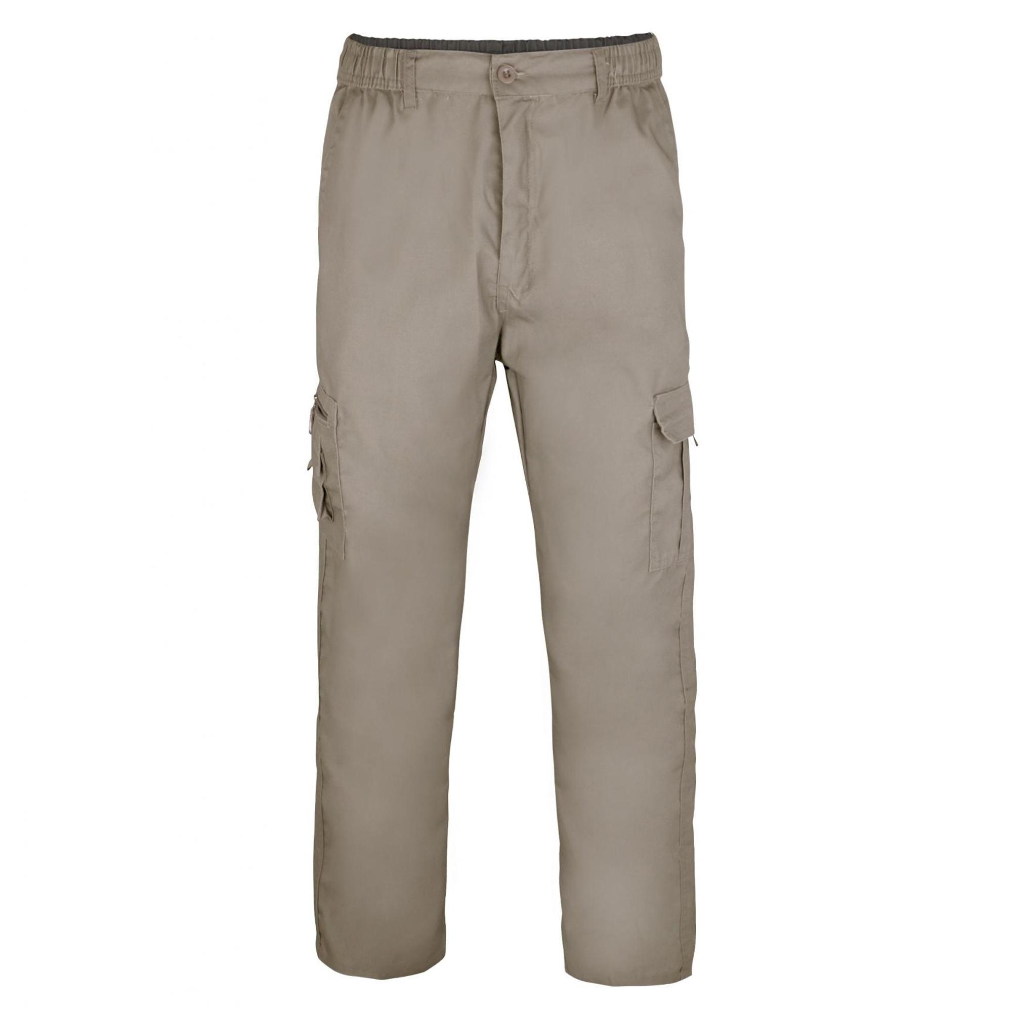 Krisp Mens Multi Pocket Cargo Trousers (M) (Taupe)