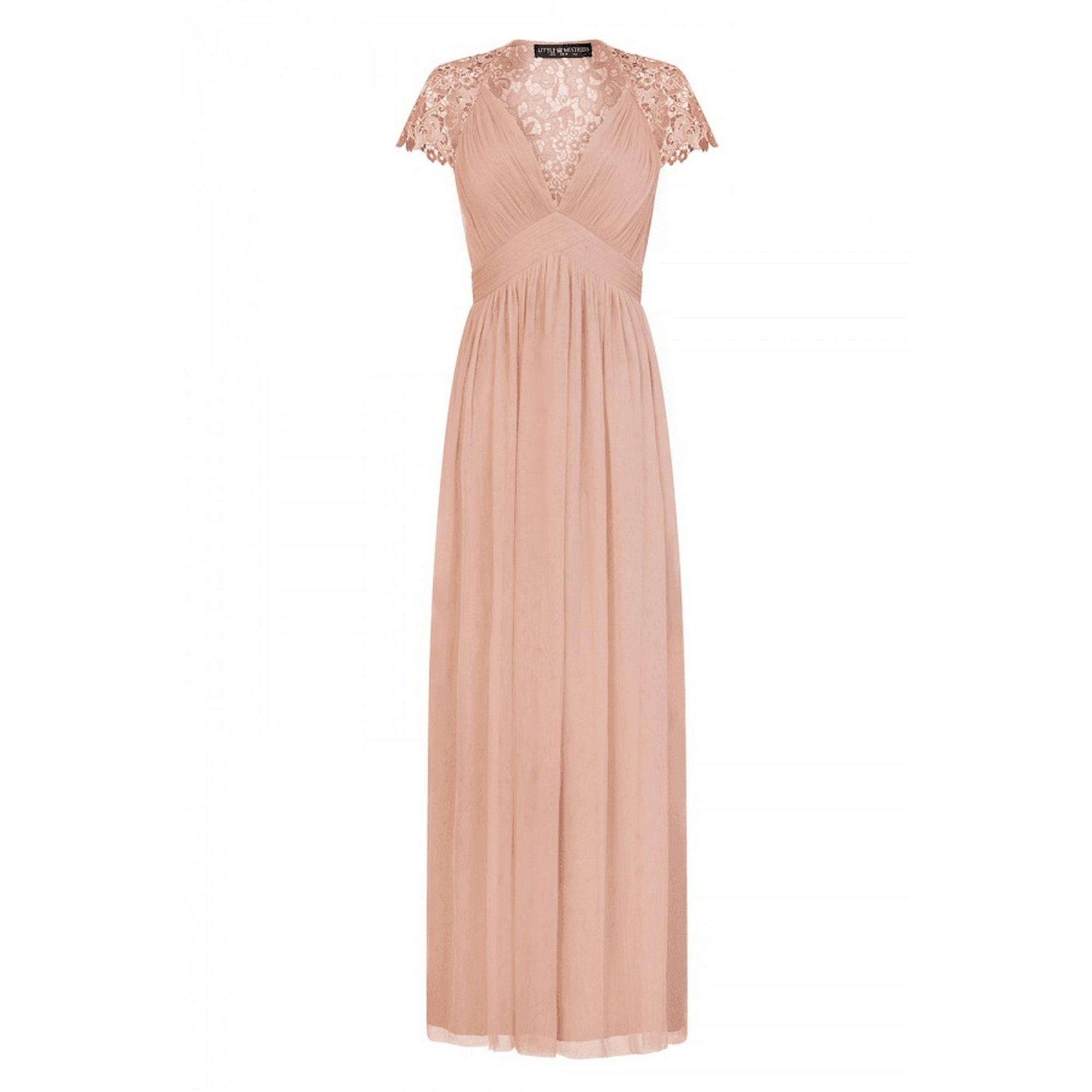 Little Mistress Womens/Ladies Embellished Cap Sleeve Maxi Dress (12 UK) (Pink)