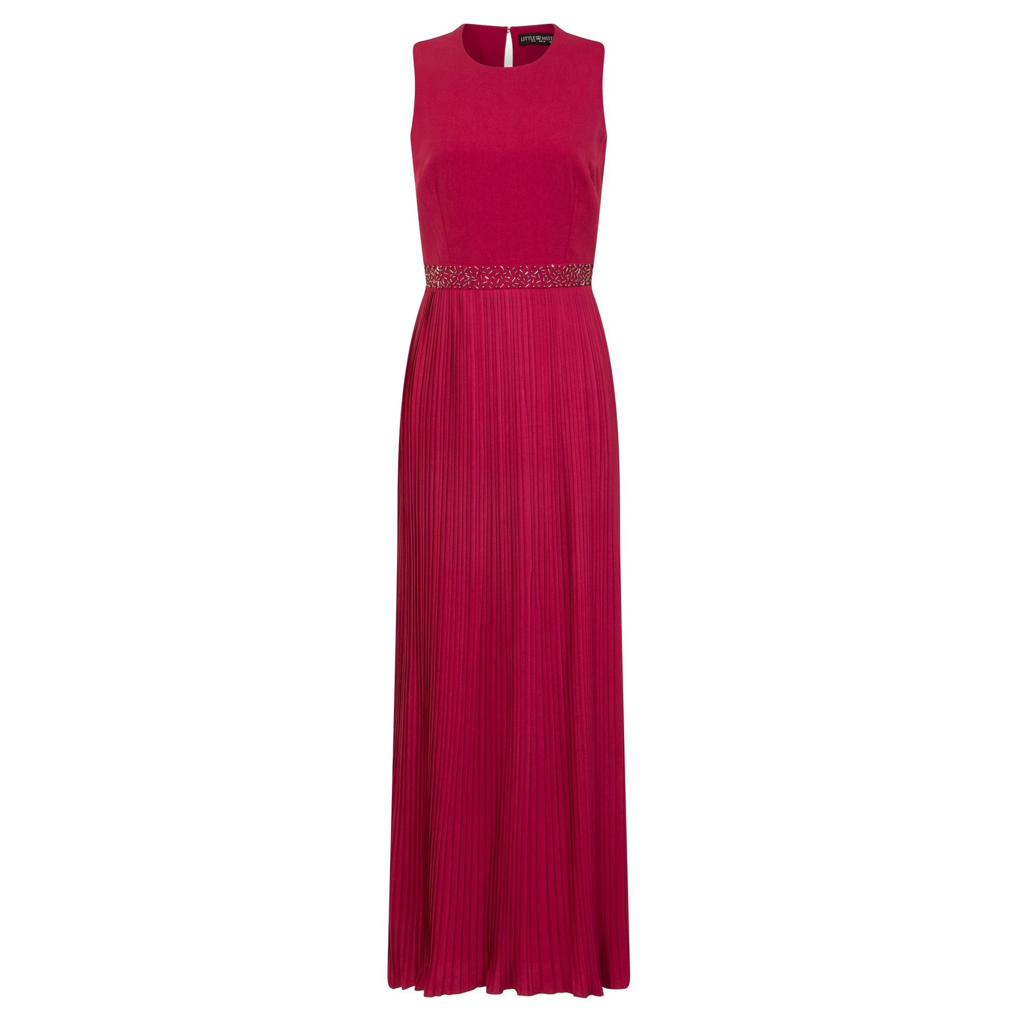 Little Mistress Womens/Ladies Madison Embellished Waist Maxi Dress (10 UK) (Berry Pink)