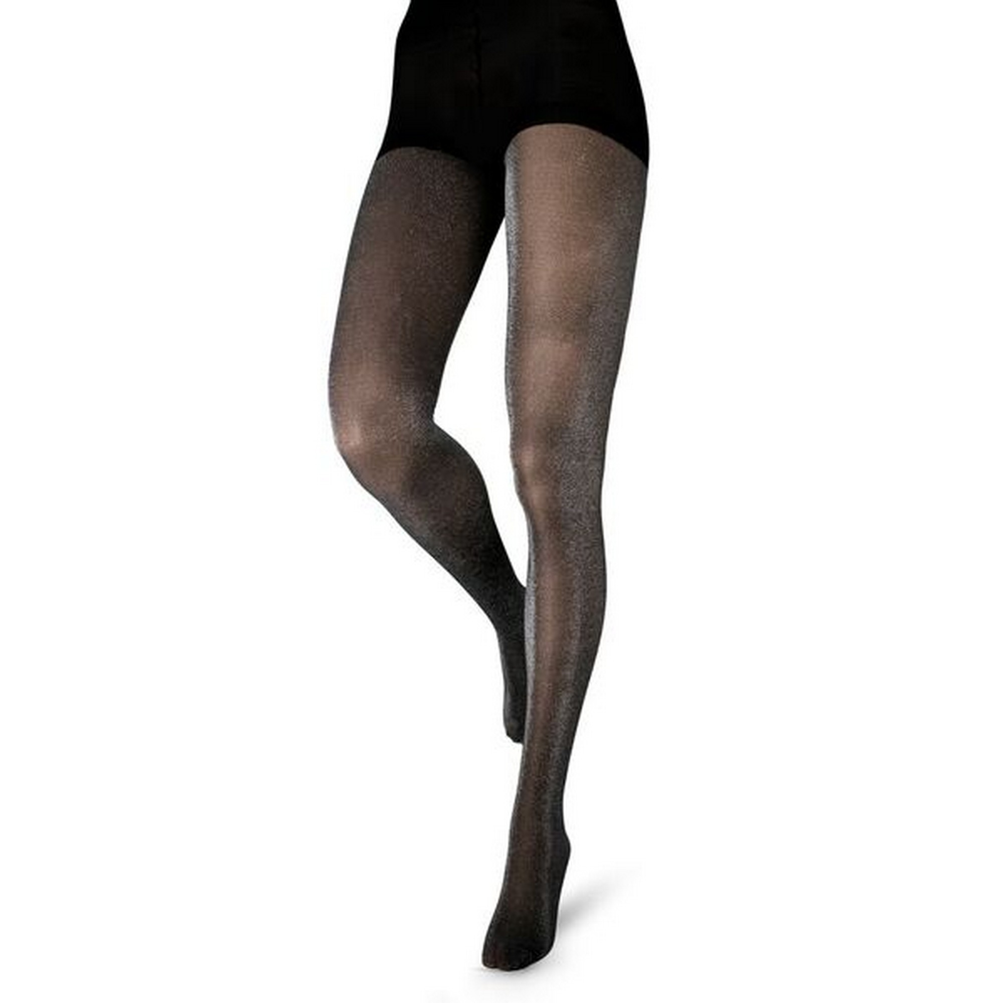Couture Womens/Ladies Glitter Opaque Tights (1 pair) (42 - 48 Inch) (Black)
