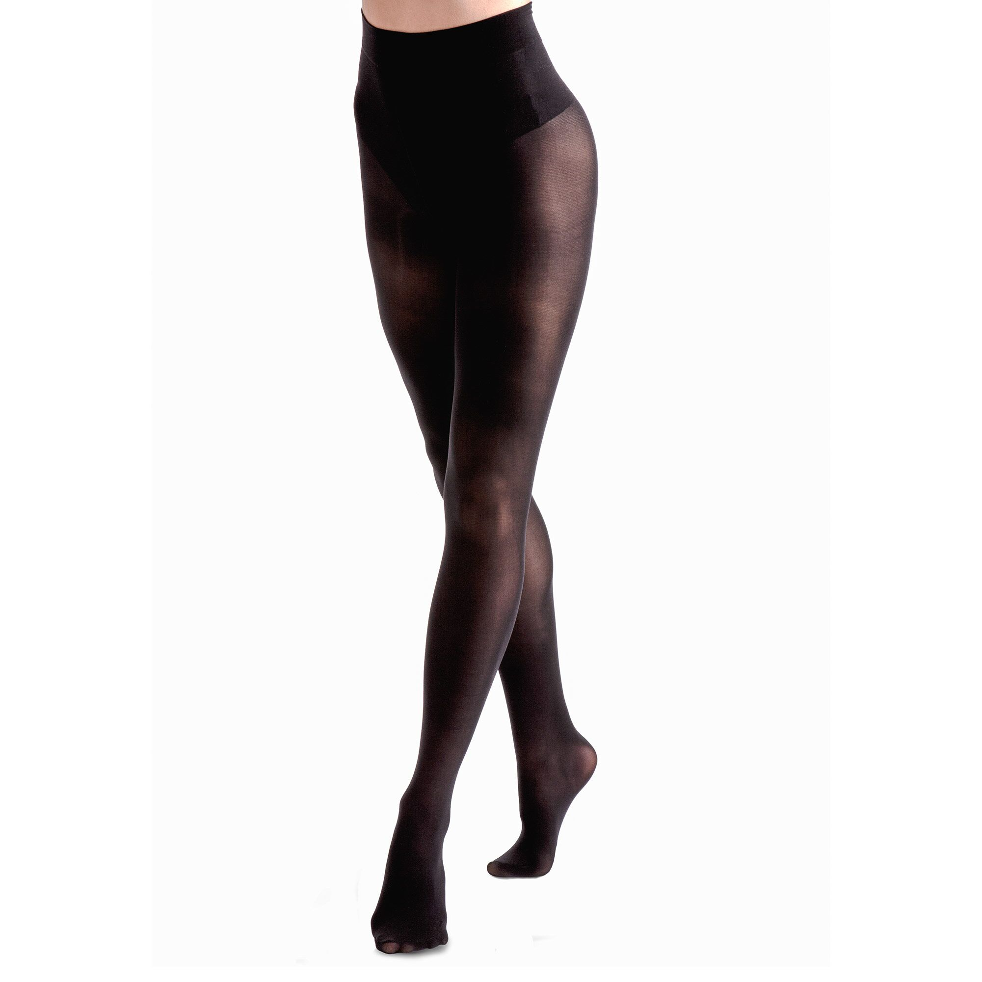 Couture Womens/Ladies Ultimate Comfort Opaque Tights (1 Pair) (42 - 48 Inch) (Black)