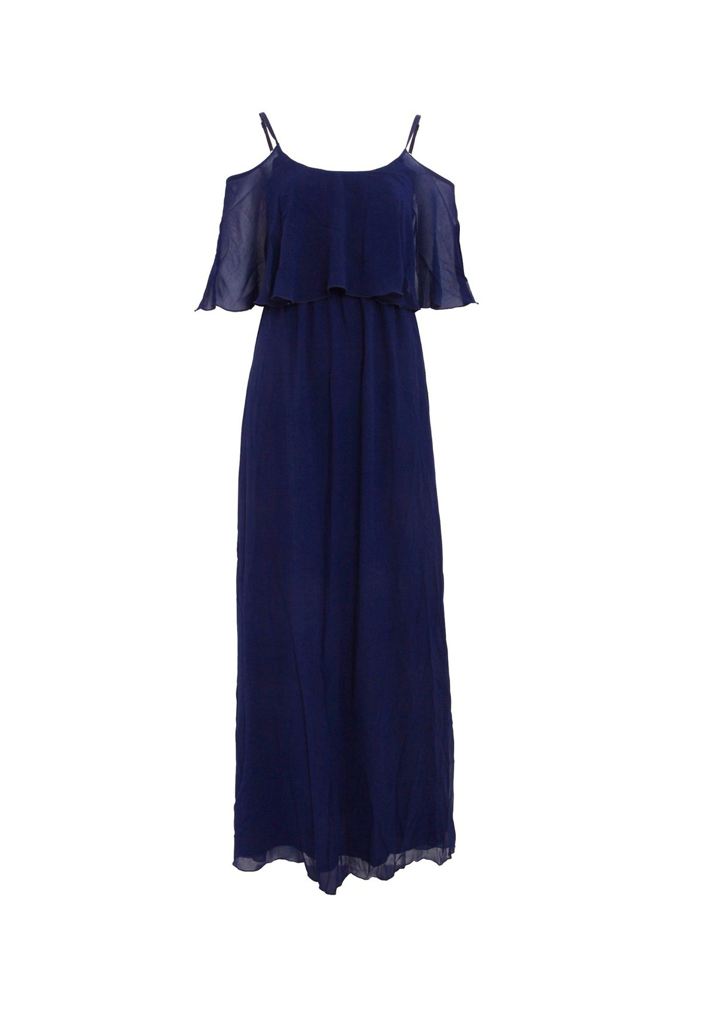 Girls On Film Womens/Ladies Motion Cold Shoulder Maxi Dress (8 UK) (Navy)