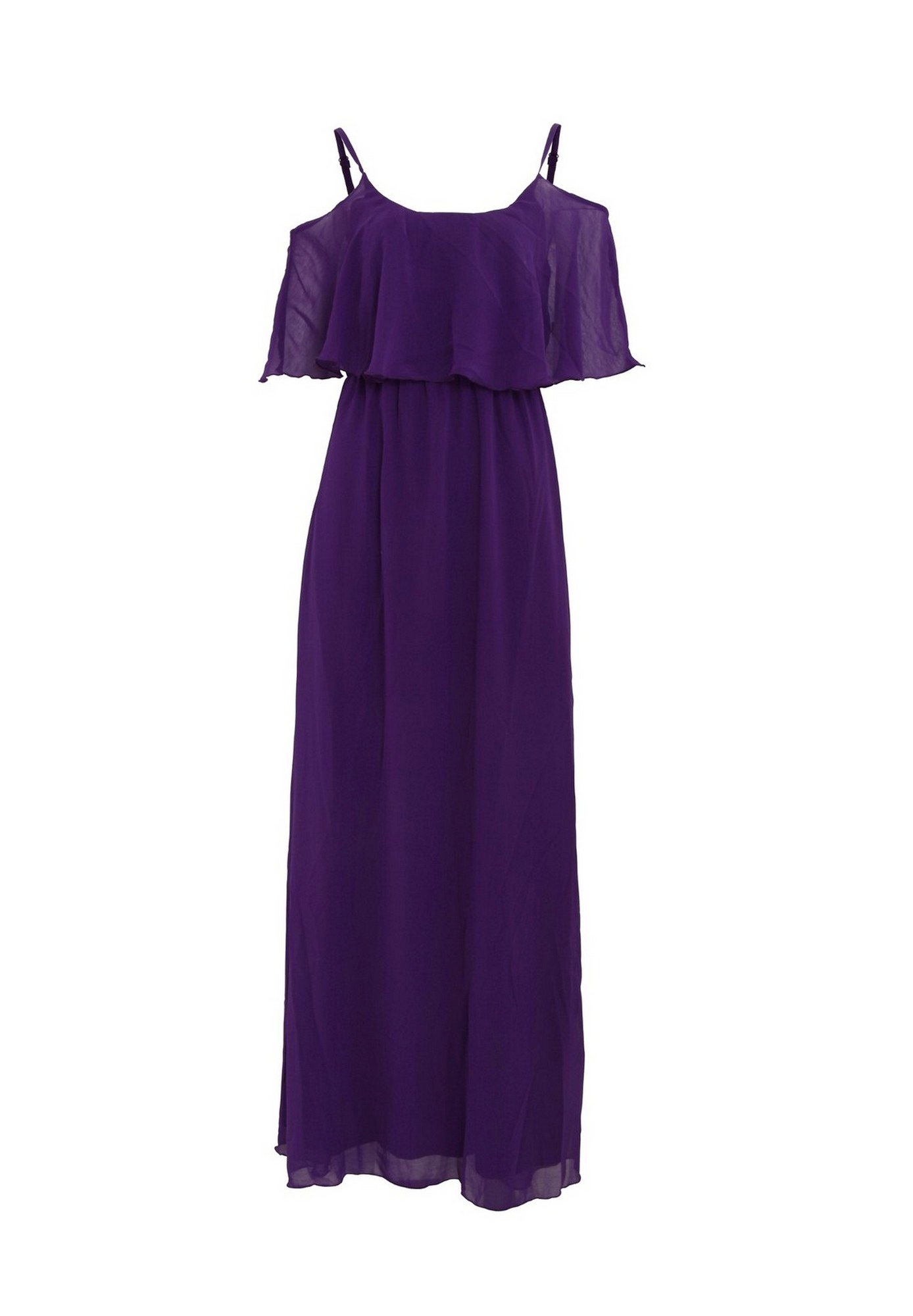 Girls On Film Womens/Ladies Motion Cold Shoulder Maxi Dress (8 UK) (Purple)