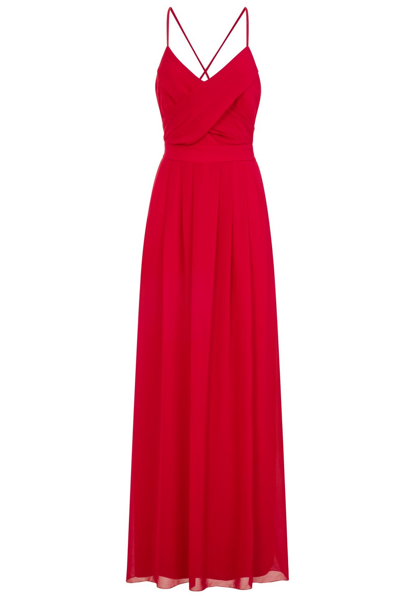 Girls On Film Womens/Ladies Endlessly Chiffon Maxi Dress (10 UK) (Red)