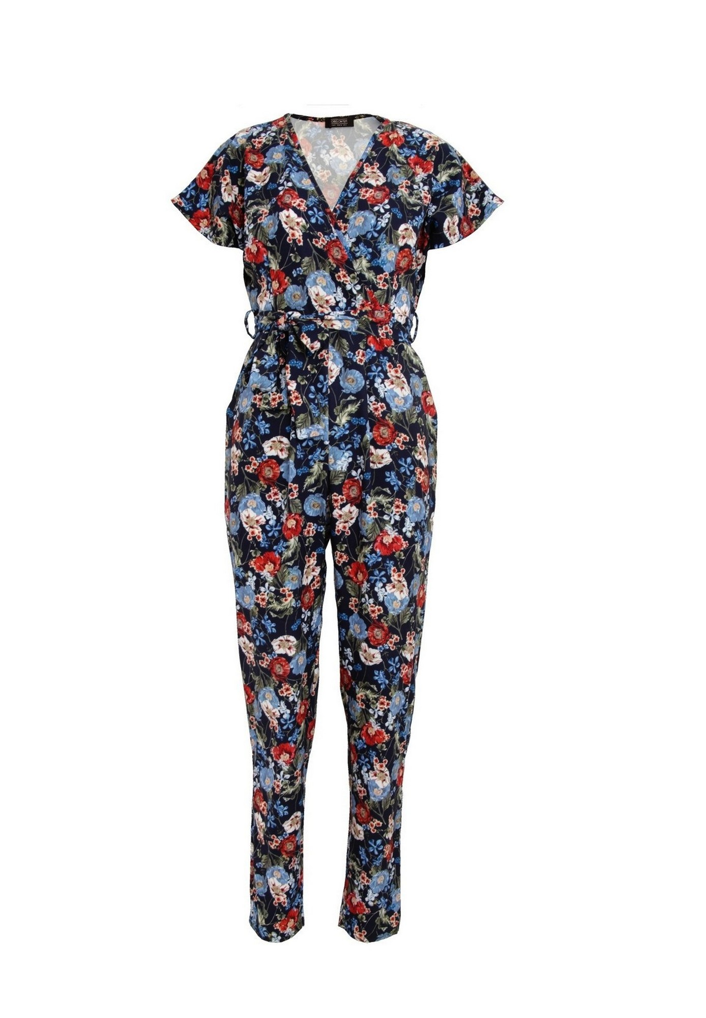 Girls On Film Womens/Ladies Aden Wrap Jumpsuit (14 UK) (Navy)