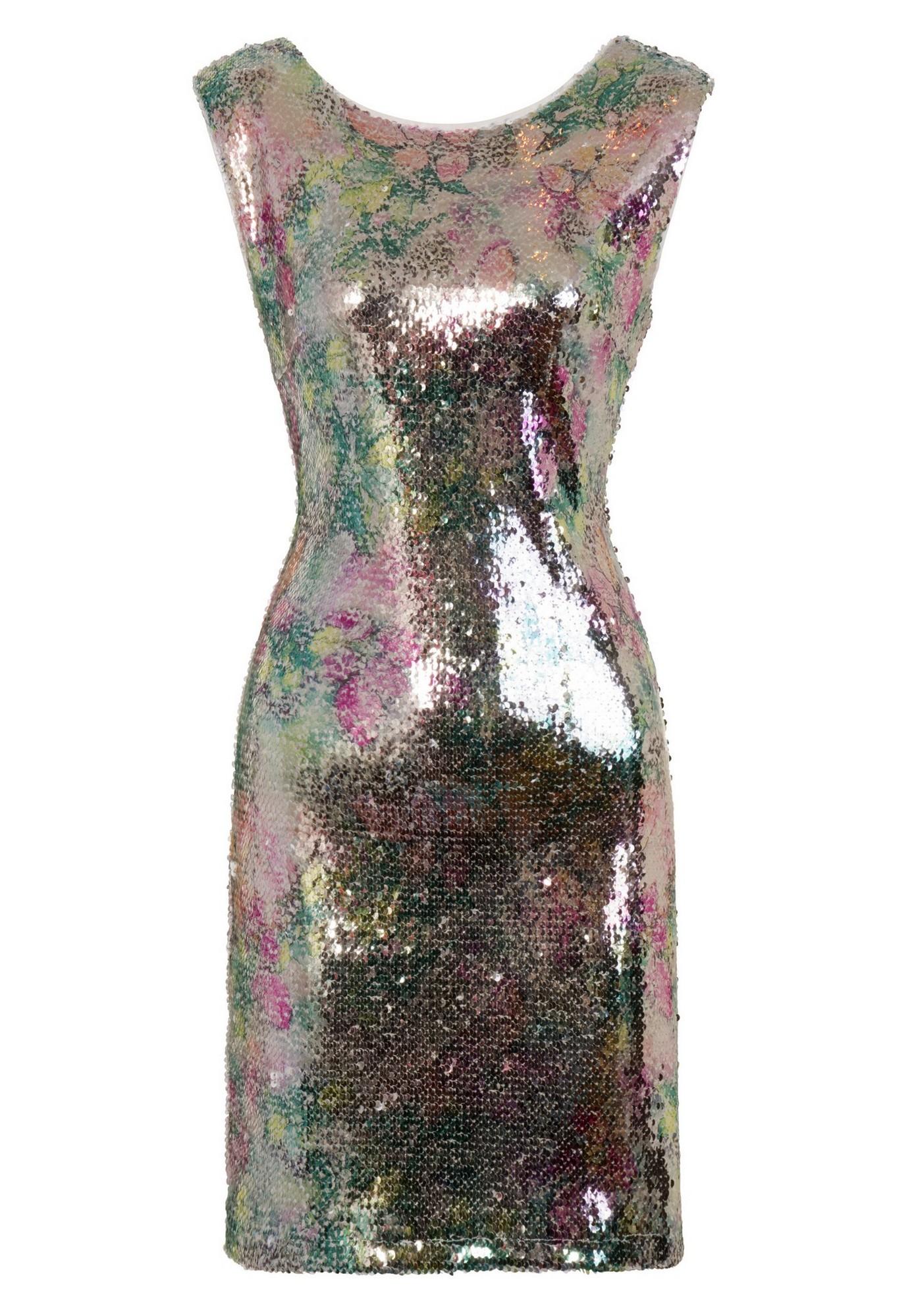 Girls On Film Womens/Ladies Aion Metallic Sequin Dress (14 UK) (Silver)
