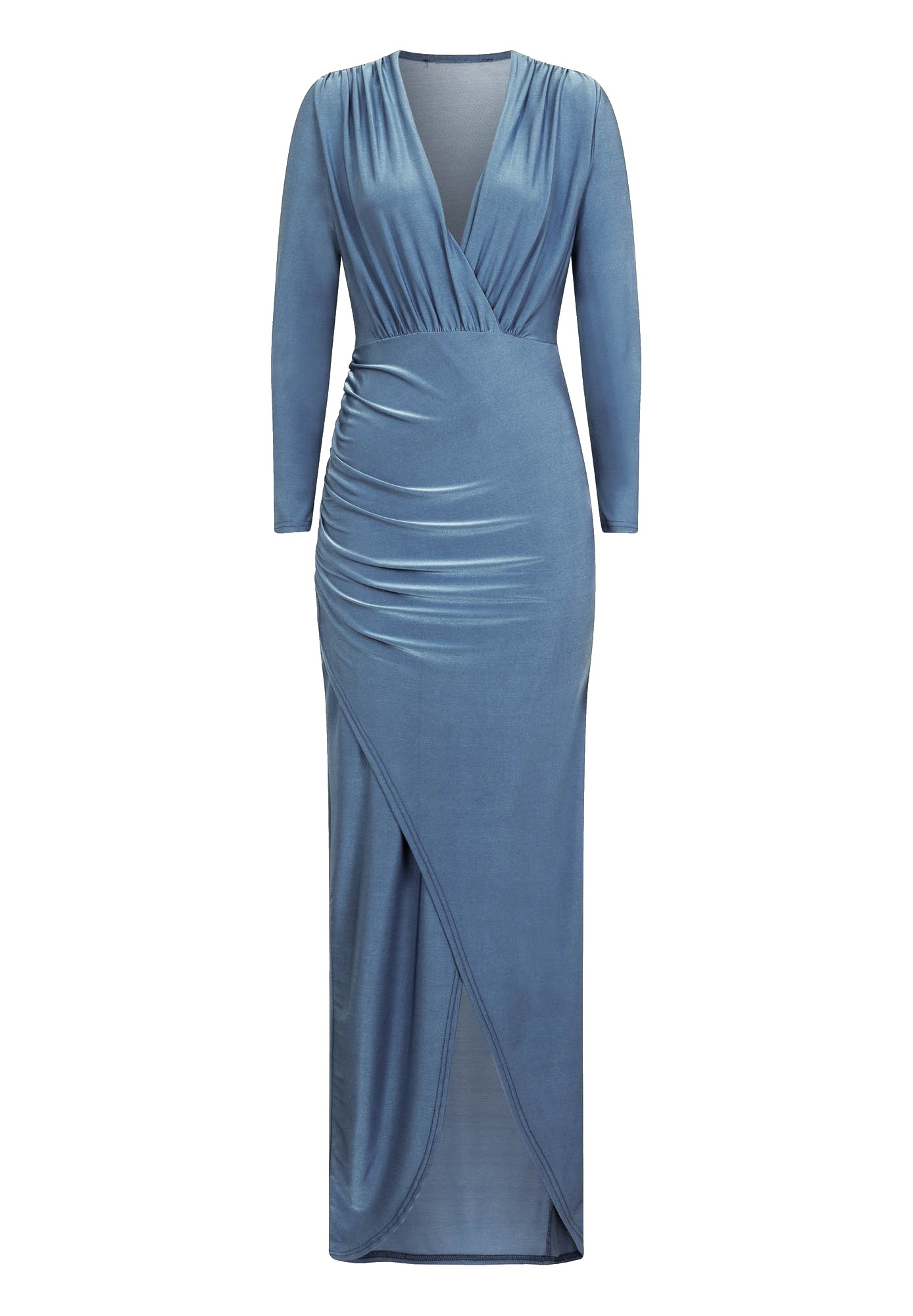 Girls On Film Womens/Ladies Monroe Ruched Maxi Dress (16 UK) (Blue)