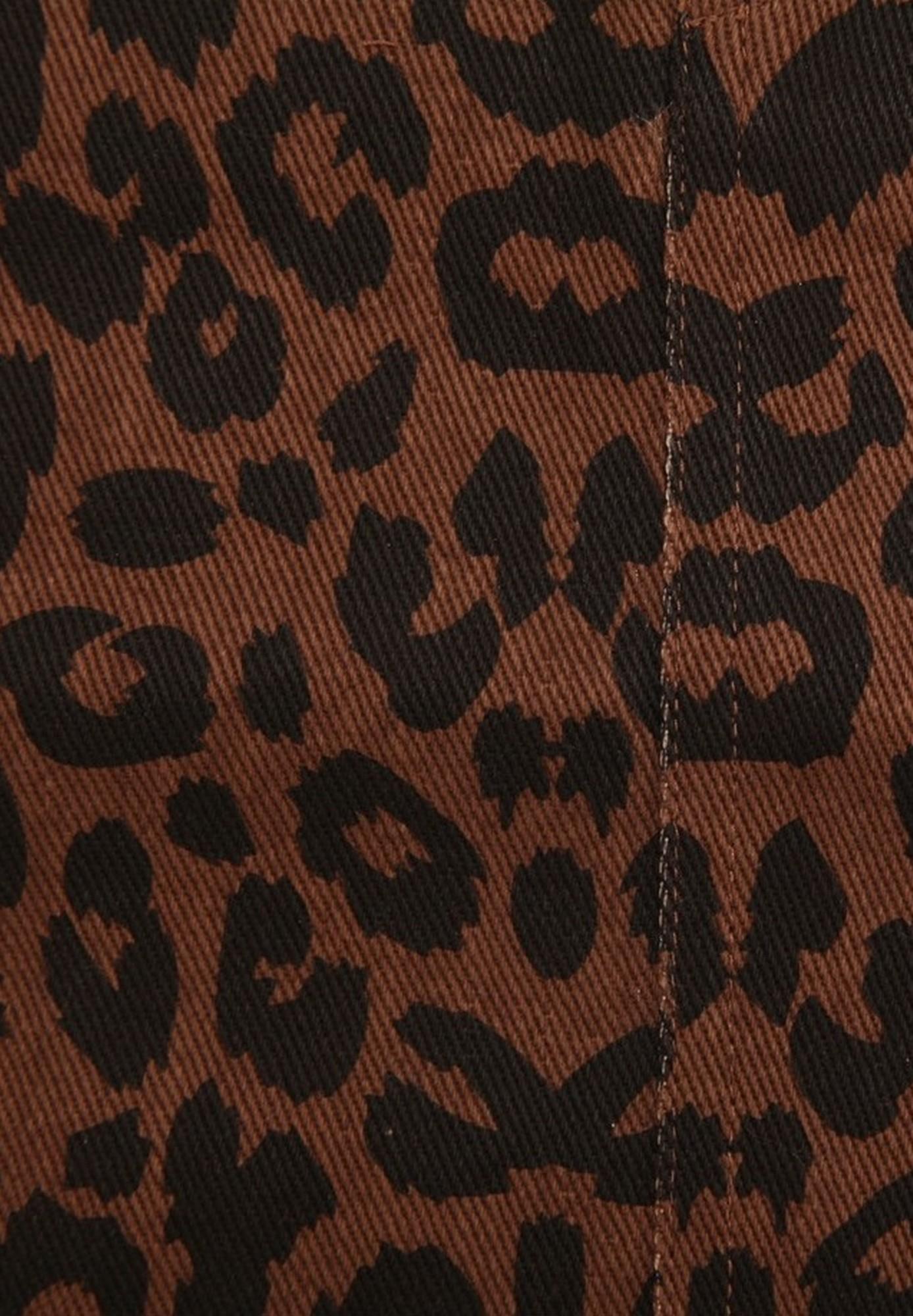 Girls On Film Womens/Ladies Ronnie Leopard Denim Skirt (12 UK) (Leopard Print)