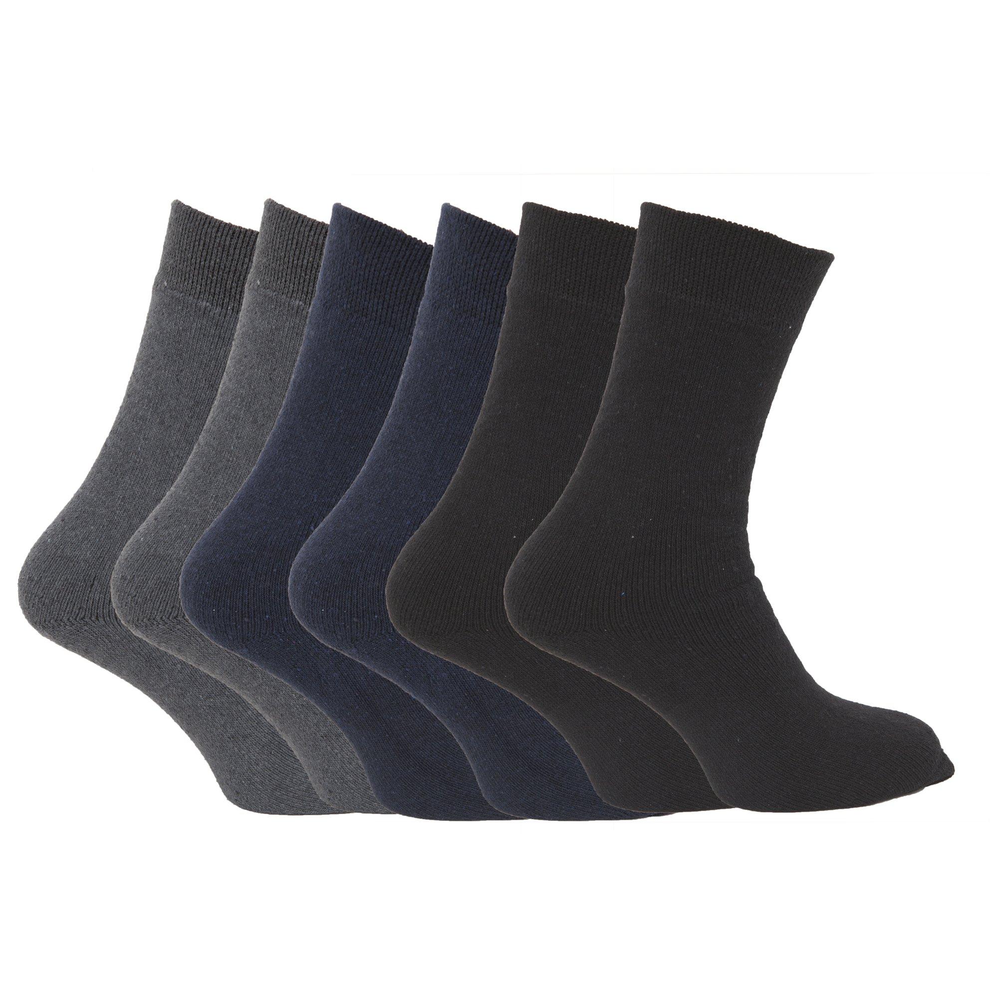 Chaussettes-thermiques-FLOSO-lot-de-6-paires-pour-homme-EUR-39-45-MB124 miniature 3