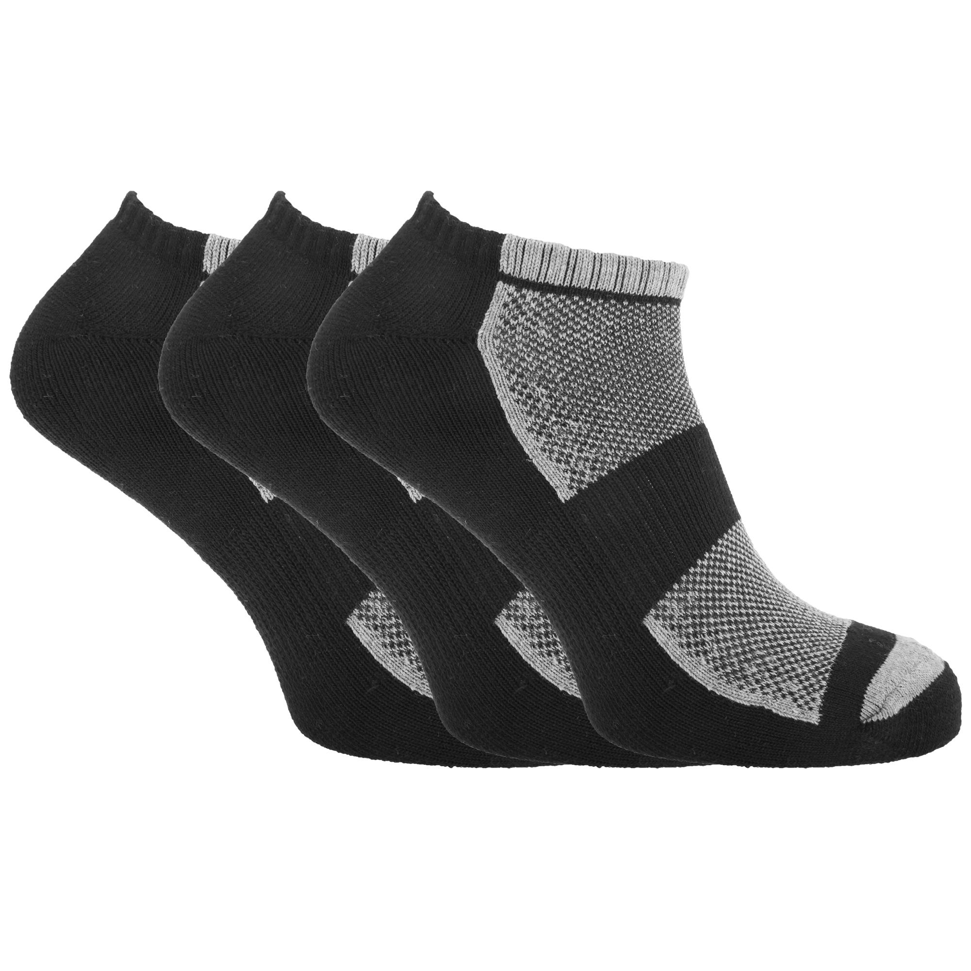Calcetines de Algodón para Hombre Rico entrenador deportivo con malla y burla (3 Pack)