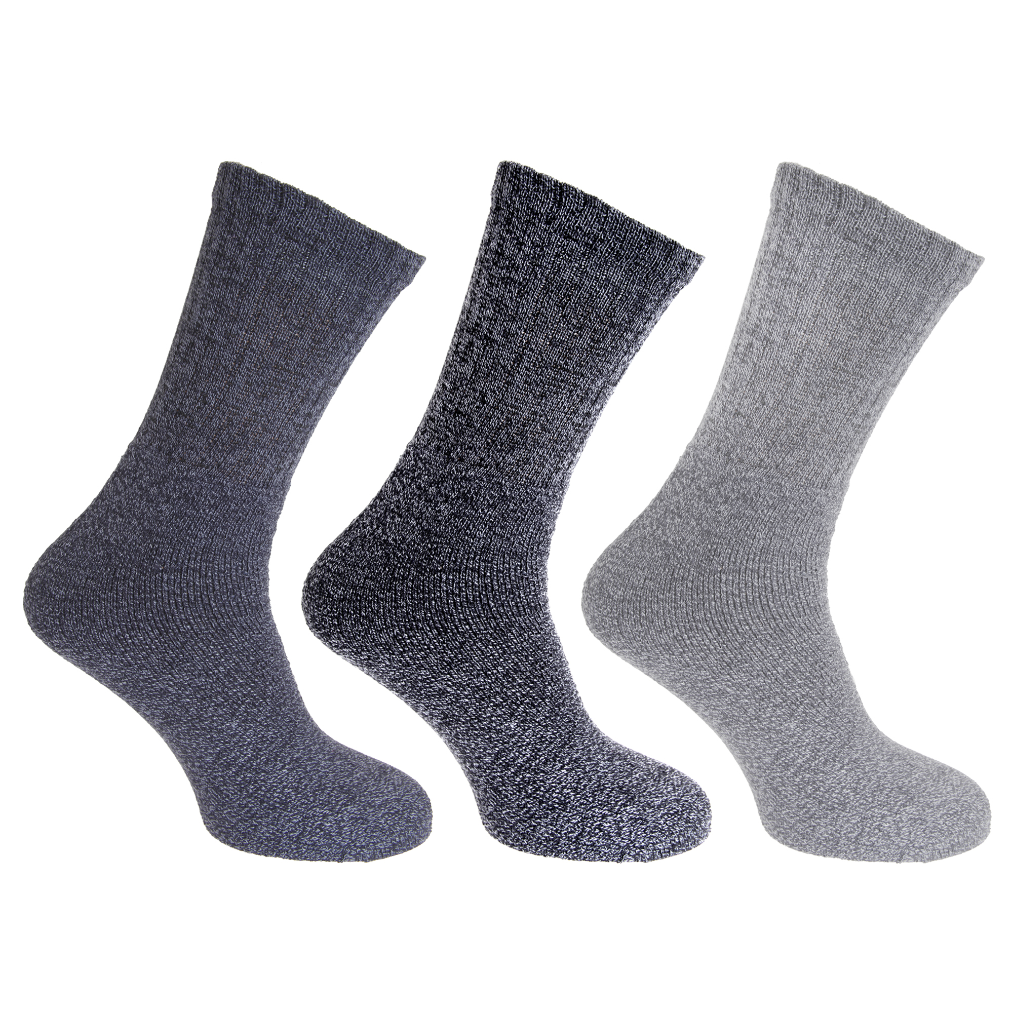 Mens-Cotton-Rich-Knit-Look-Boot-Socks-3-Pairs-MB537
