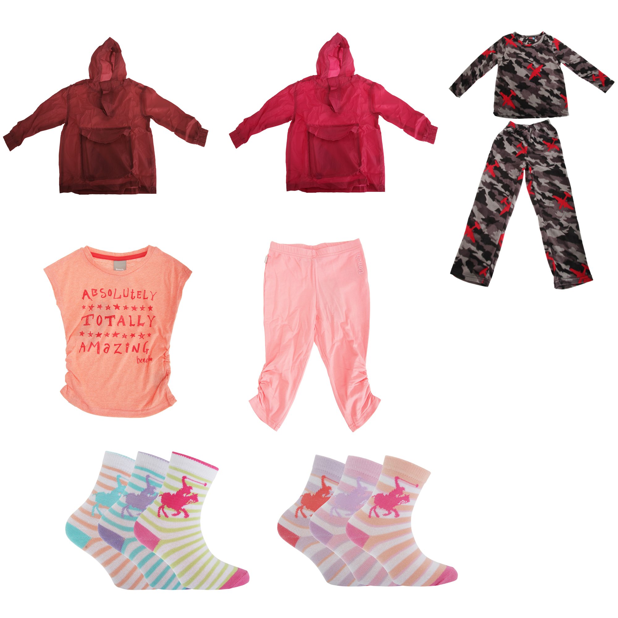 Bulk, Wholesale, Job Lot, Clearance Assorted Clothing (Dresses, Tops, Footwear And More) (Box 8) (Assorted Childrens Clothing (Set of 58))