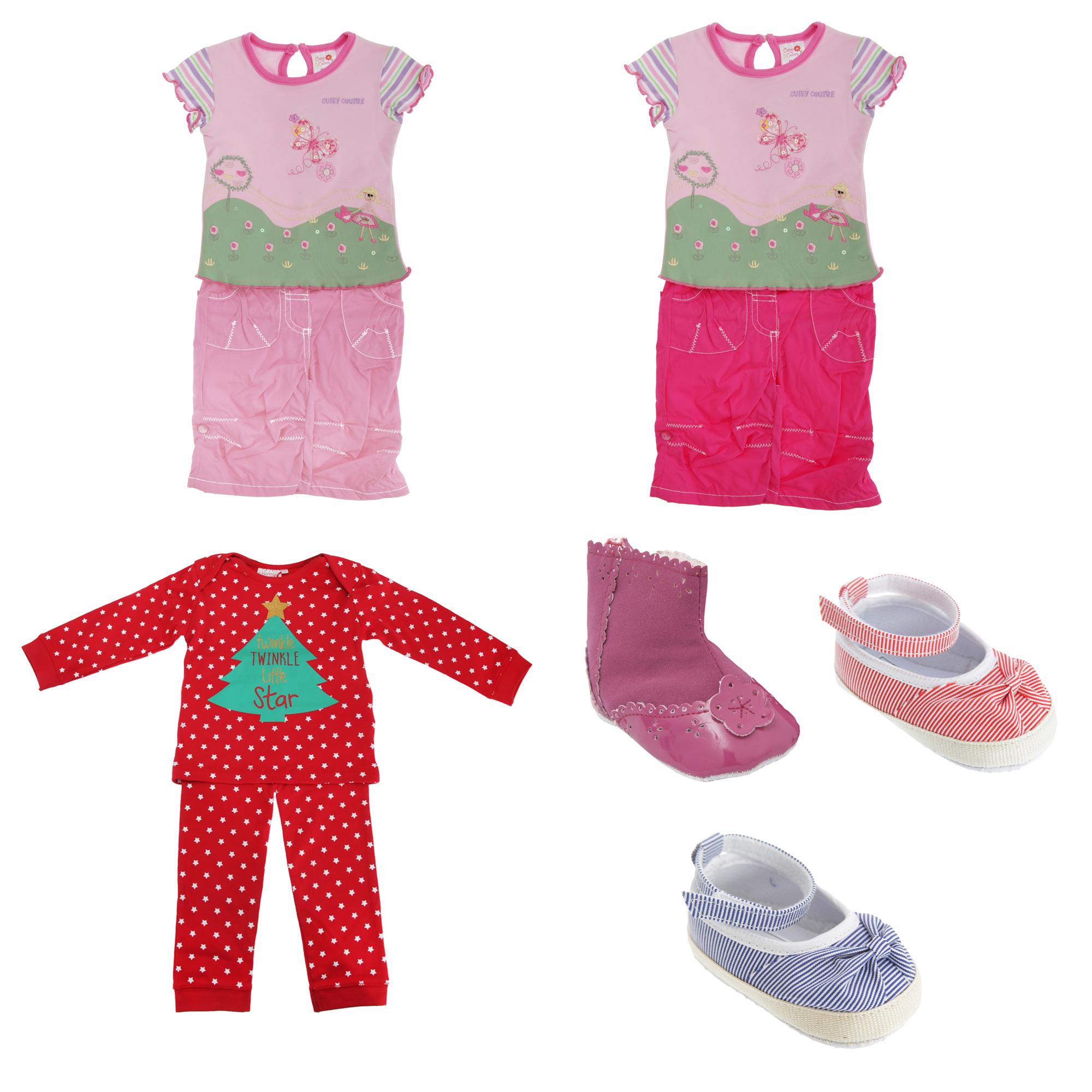 Bulk, Wholesale, Job Lot, Clearance Assorted Clothing (Dresses, Tops, Footwear And More) (Box 9) (Assorted Baby Clothing (Set of 46))