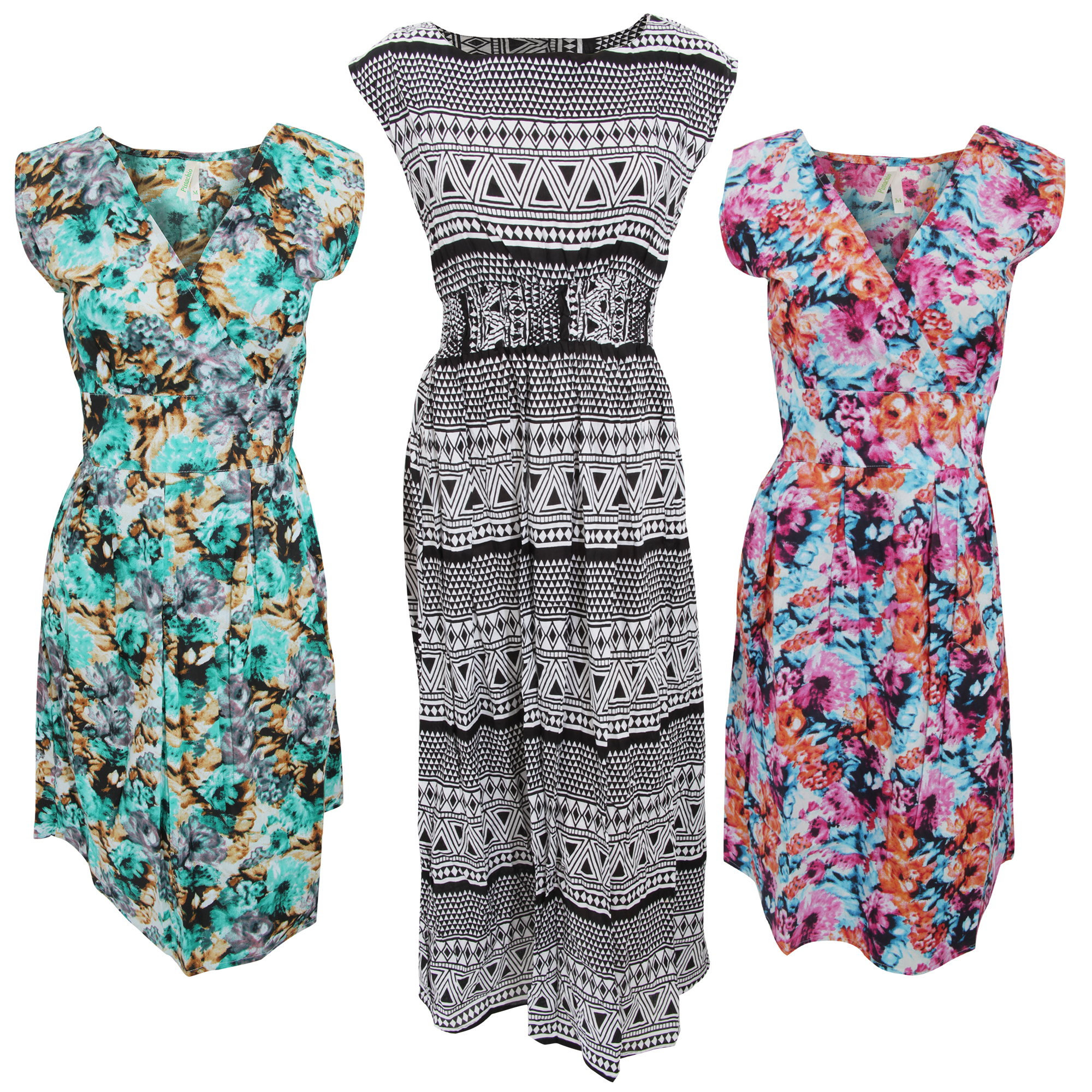 Bulk, Wholesale, Job Lot, Clearance Assorted Clothing (Dresses, Tops, Footwear And More) (Box 18) (Assorted Womens Sleeveless Dresses (Set of 26))