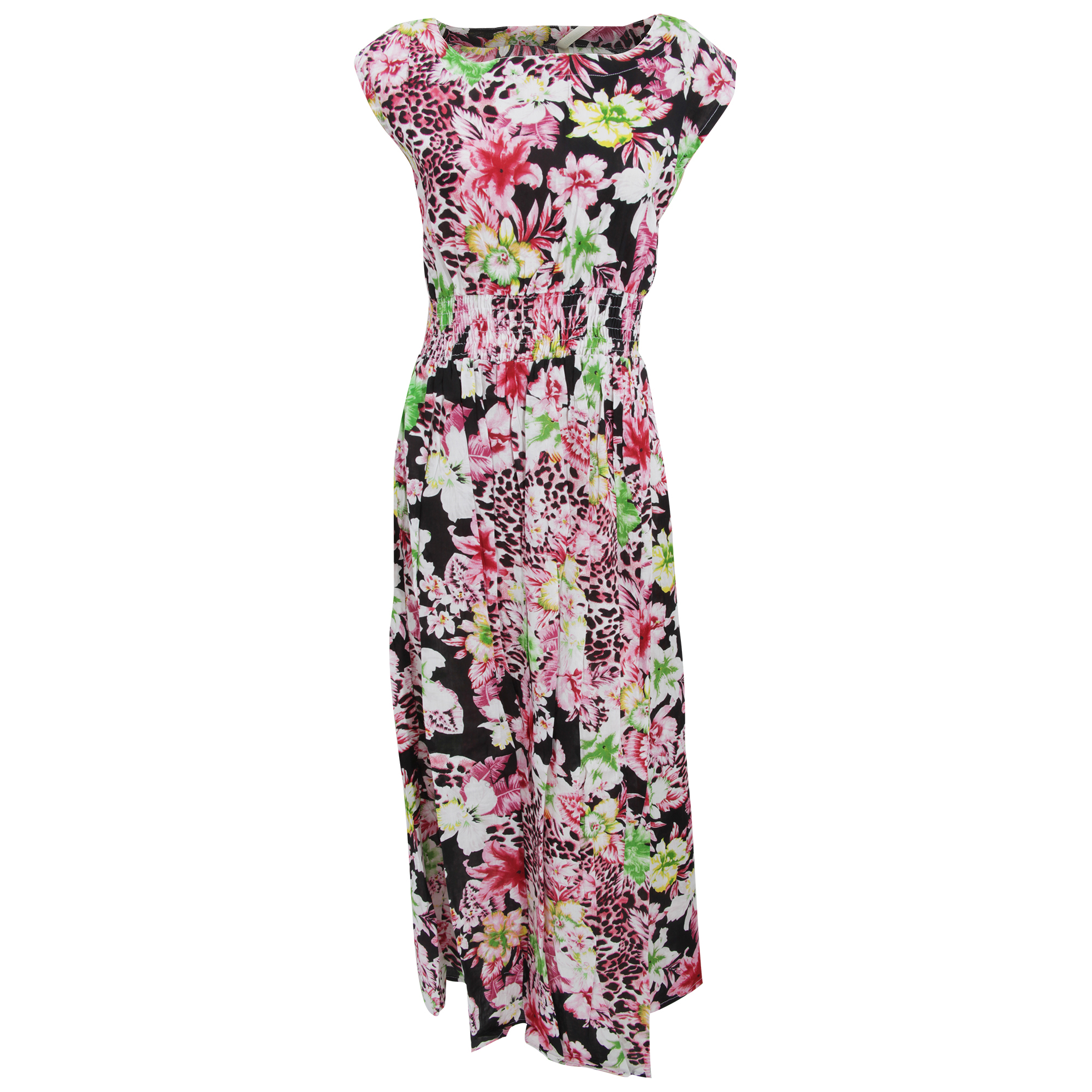 Bulk, Wholesale, Job Lot, Clearance Assorted Clothing (Dresses, Tops, Footwear And More) (Box 19) (Womens Pink Floral Leopard Dresses (Set of 40))
