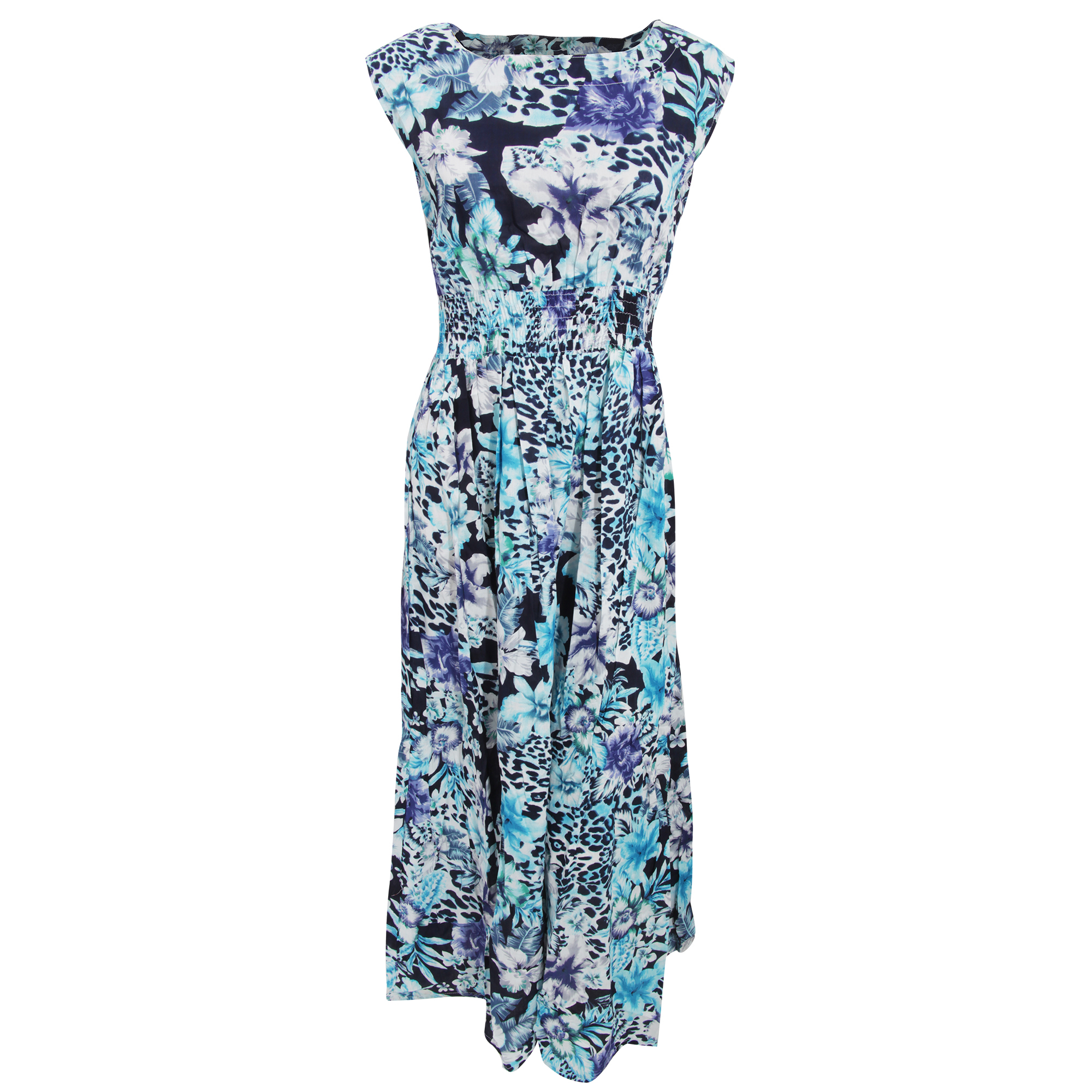 Bulk, Wholesale, Job Lot, Clearance Assorted Clothing (Dresses, Tops, Footwear And More) (Box 20) (Womens Blue Floral Leopard Dresses (Set of 41))