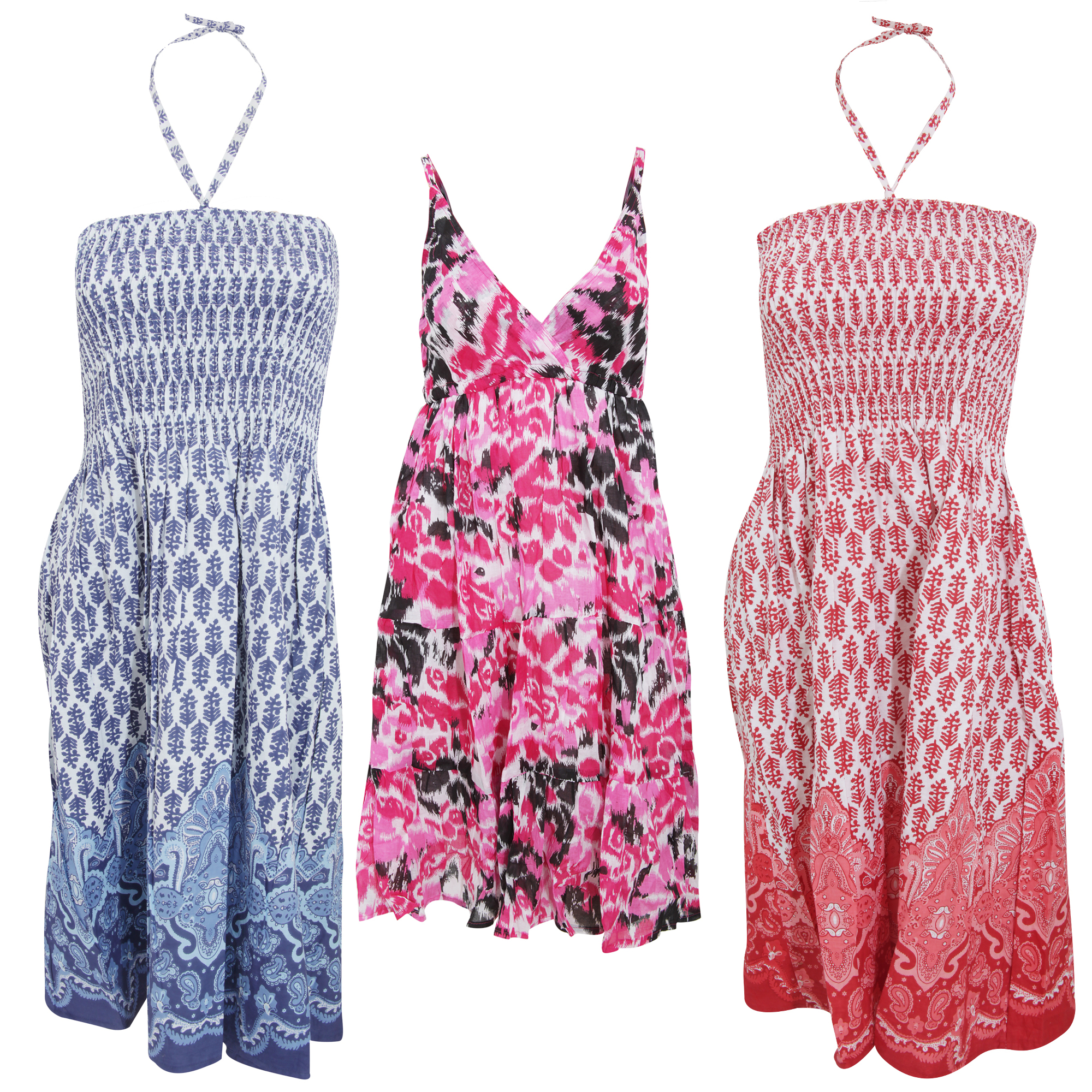 Bulk, Wholesale, Job Lot, Clearance Assorted Clothing (Dresses, Tops, Footwear And More) (Box 16) (Assorted Womens Summer Dresses (Set of 56))