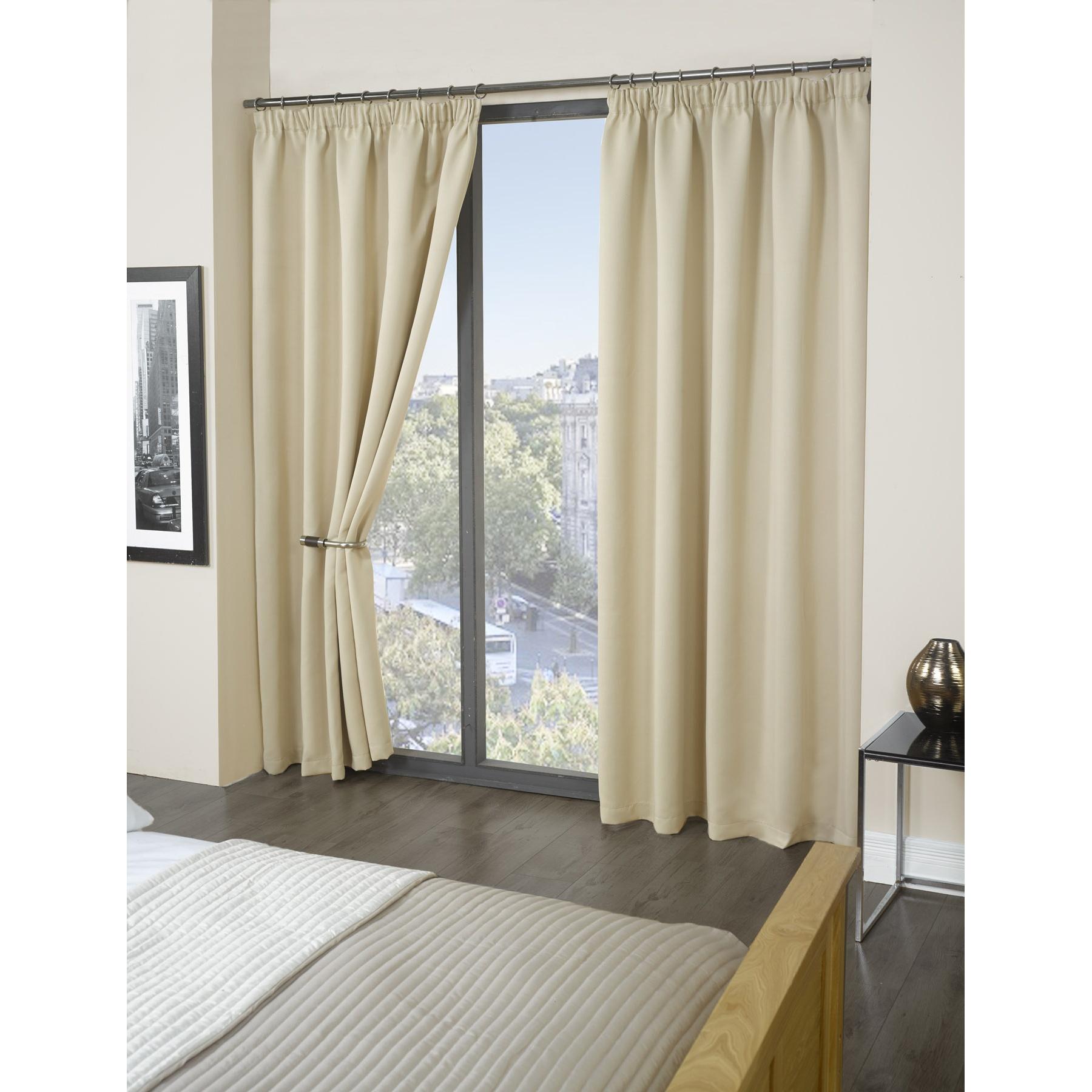 ensemble de rideaux occultants cali enti rement doubl s ms134 ebay. Black Bedroom Furniture Sets. Home Design Ideas