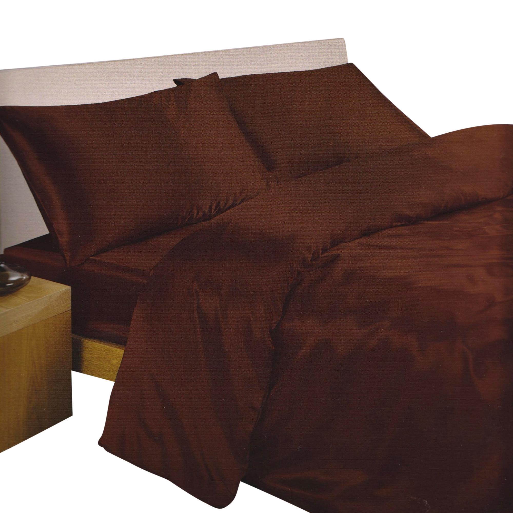 ensemble de literie en satin parure de lit et drap housse ebay. Black Bedroom Furniture Sets. Home Design Ideas