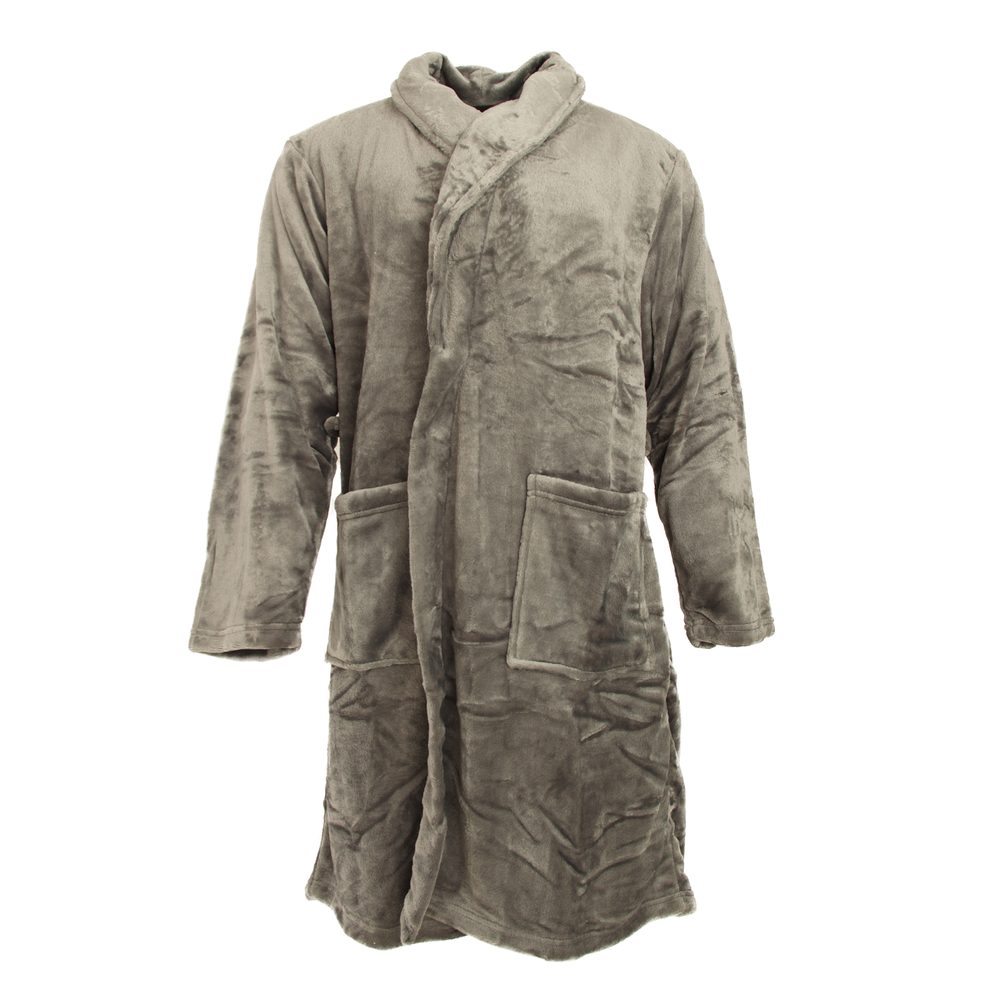 Pierre Roche Mens Luxury Super Soft Dressing Gown Gray 2xl | eBay