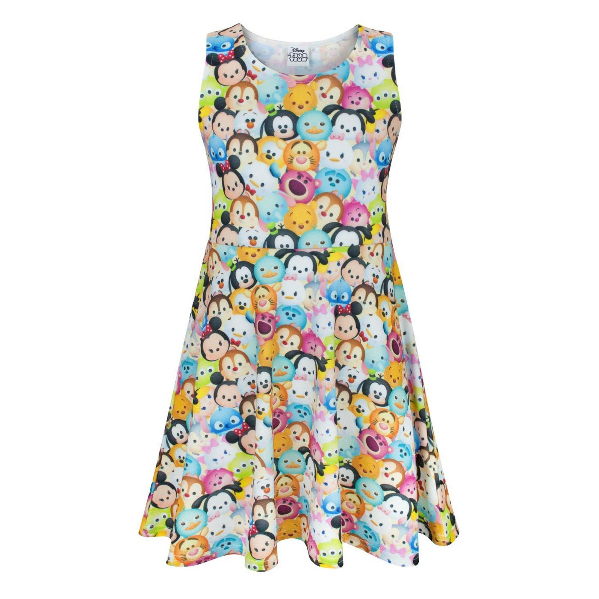 572308974fcff Details about Disney Childrens/Girls Official Tsum Tsum Character Skater  Dress (NS329)